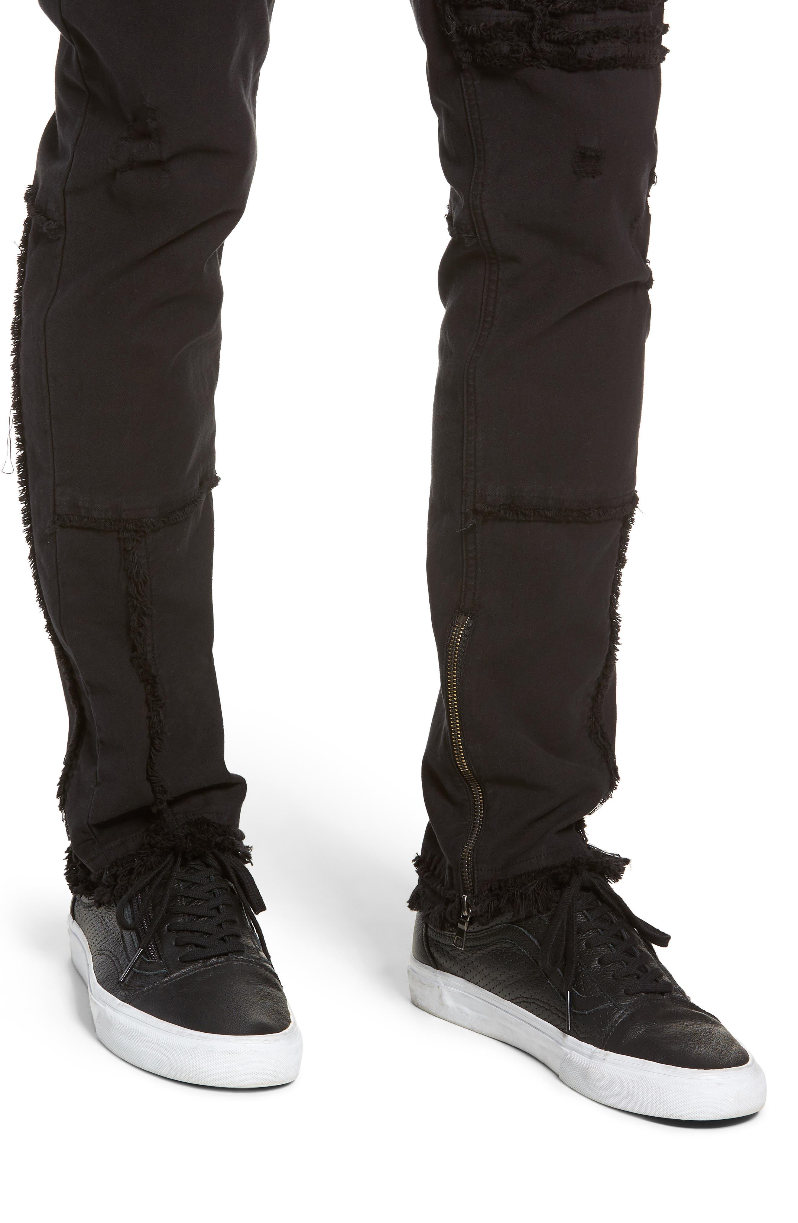 Vaughn Moto Skinny Fit Jeans,                             Alternate thumbnail 4, color,                             FARRELL