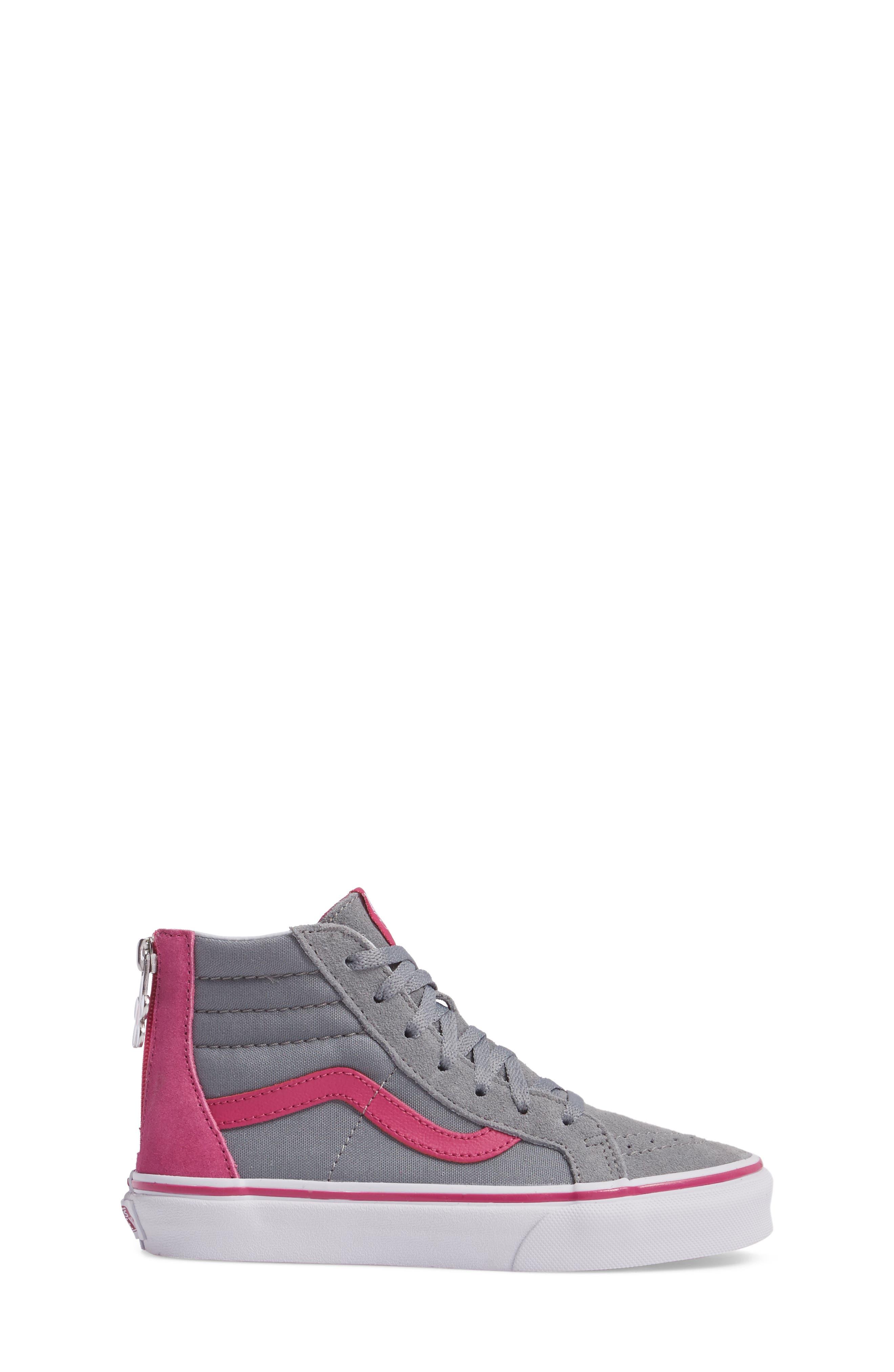 SK8-Hi Zip-Up Sneaker,                             Alternate thumbnail 3, color,                             650