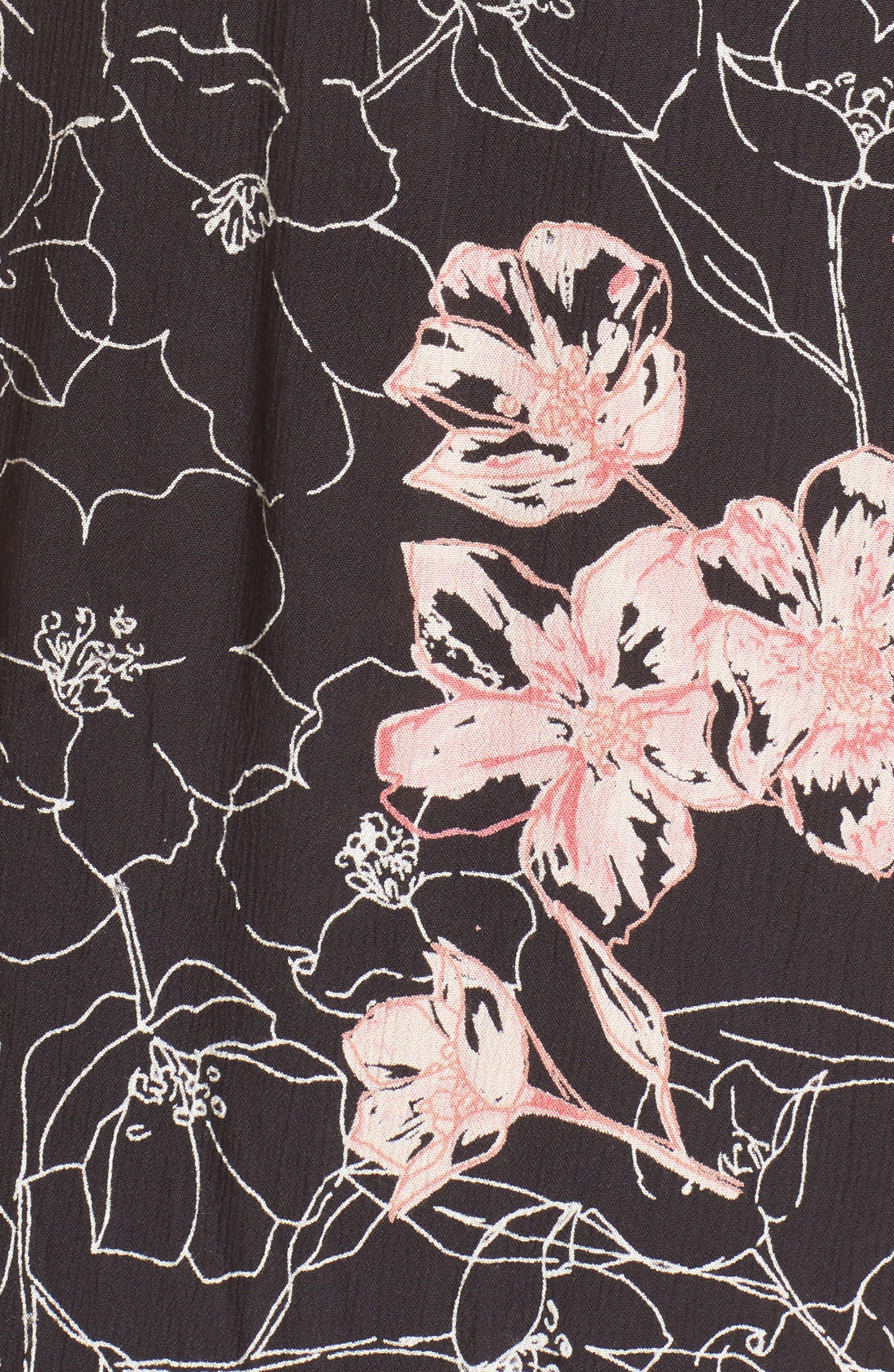 Wrap Me Up Midi Dress,                             Alternate thumbnail 5, color,                             001