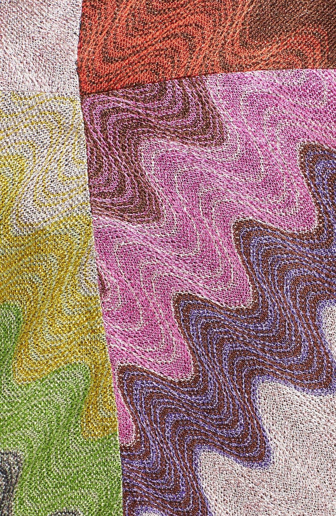 Multicolor Wave Stitch Miniskirt,                             Alternate thumbnail 4, color,