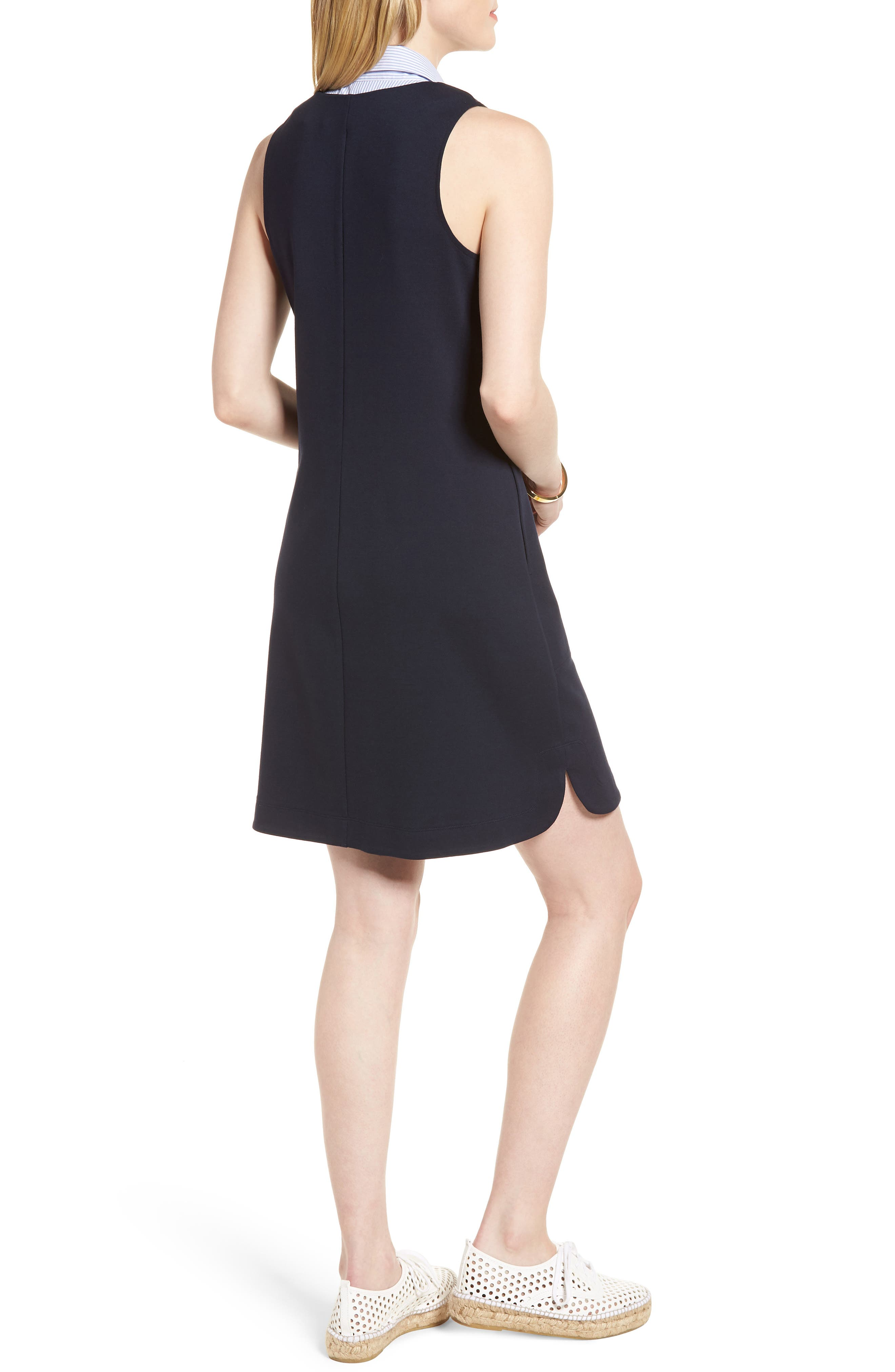 Poplin Collar Knit Dress,                             Alternate thumbnail 2, color,                             410