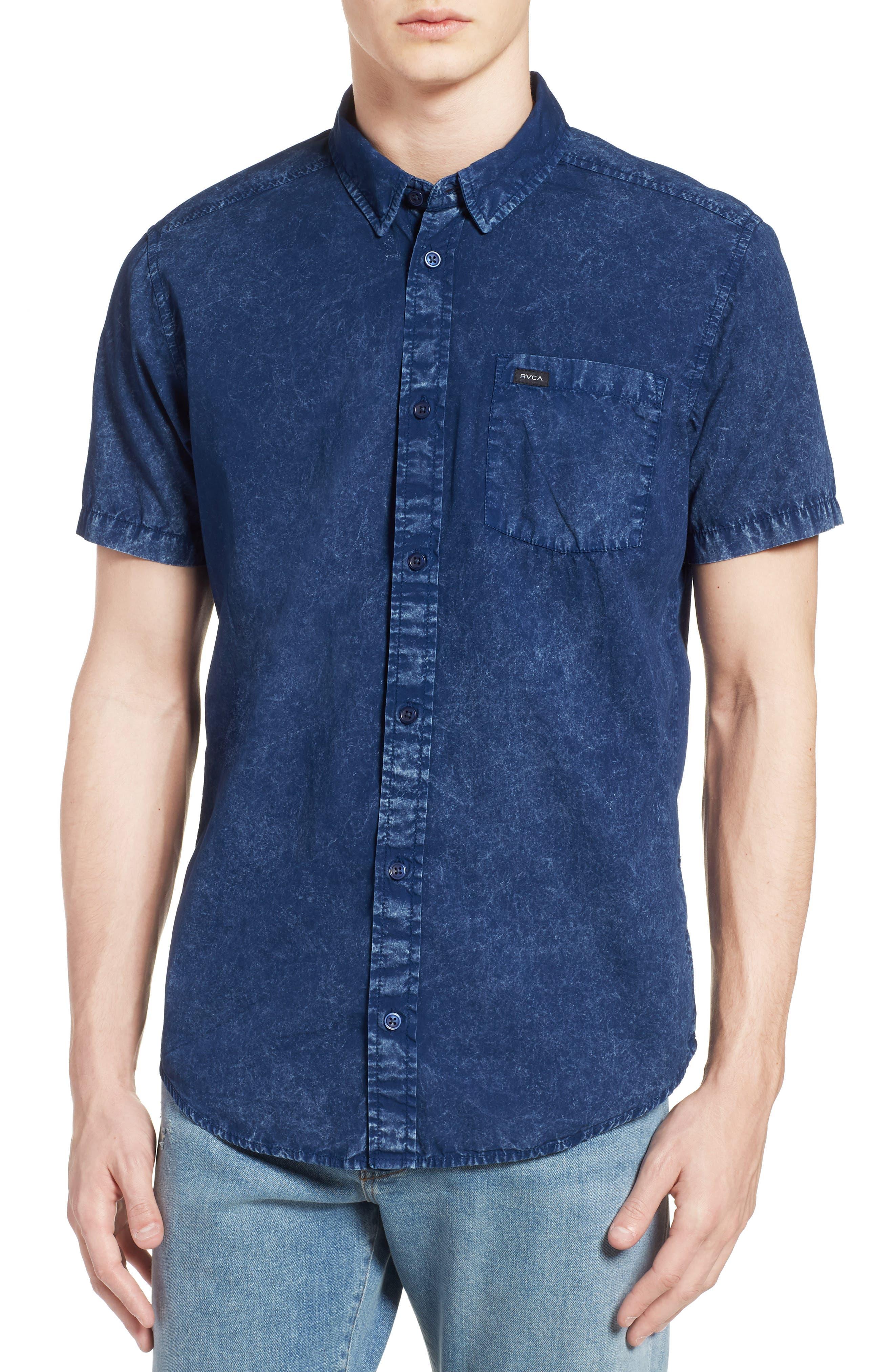 Acid Rain Denim Shirt,                         Main,                         color, 400
