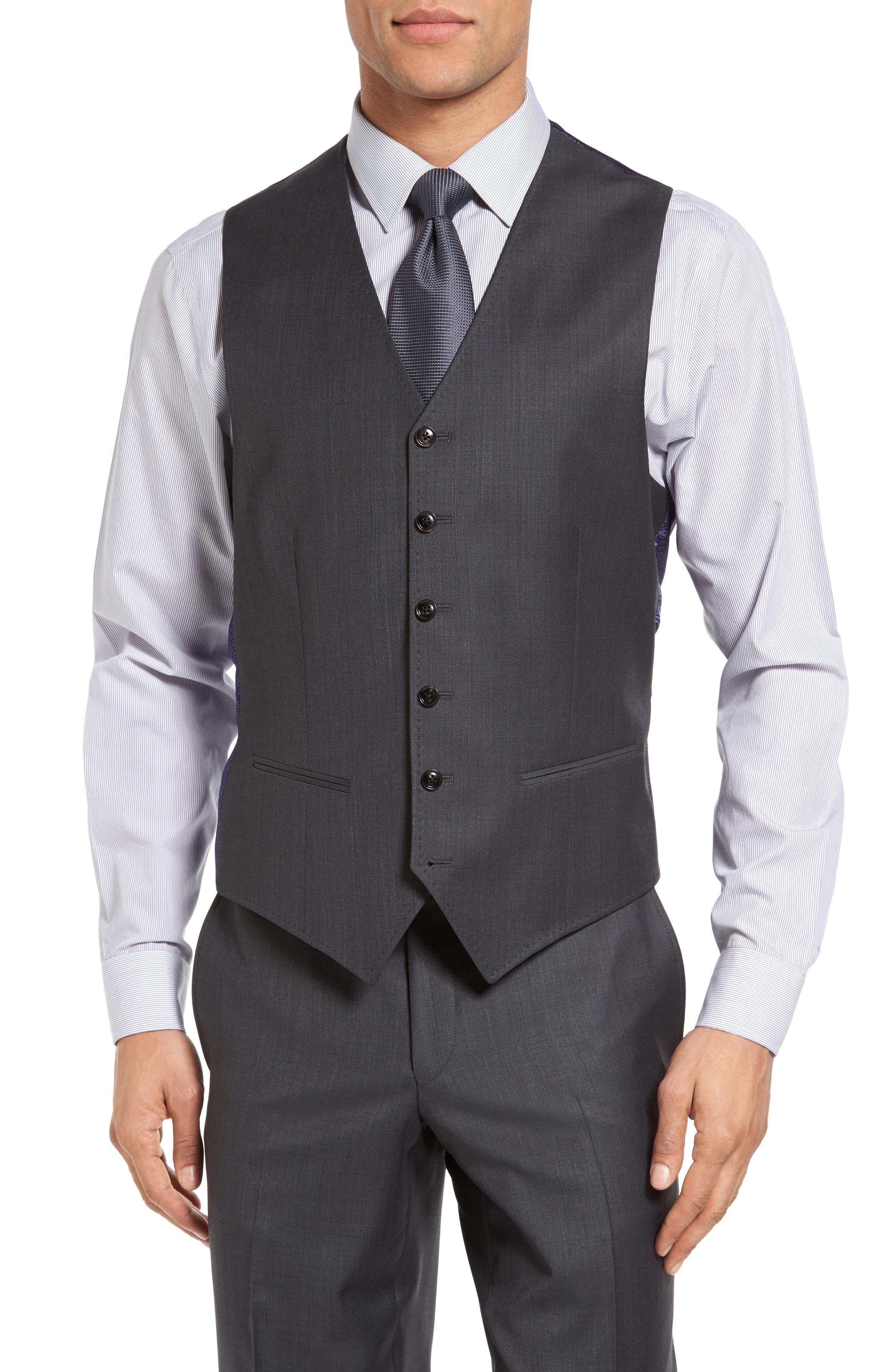 Jones Trim Fit Wool Vest,                             Main thumbnail 2, color,