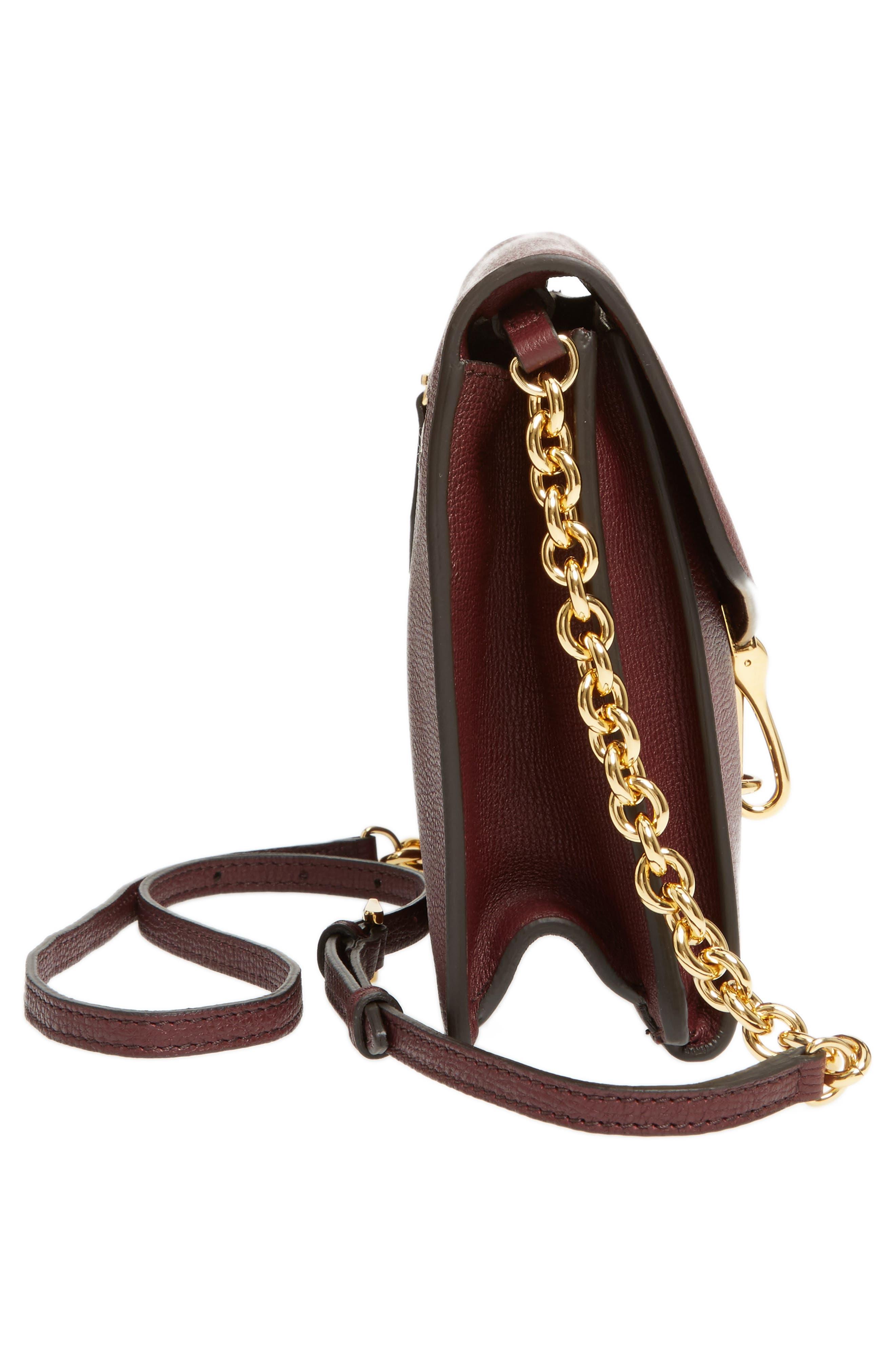 Macken Leather Derby Crossbody Bag,                             Alternate thumbnail 5, color,                             606
