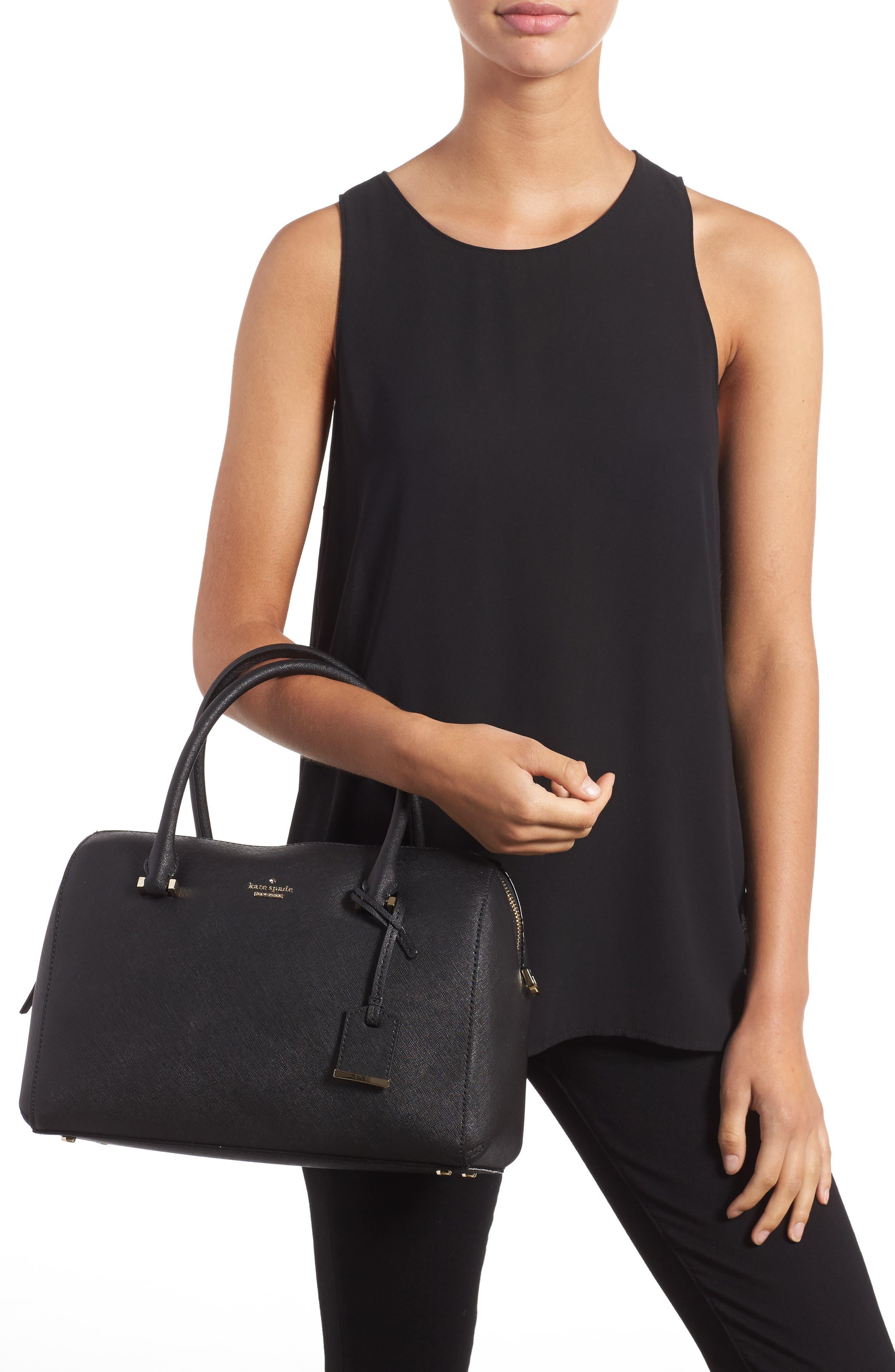 mega cameron street - lane leather satchel,                             Alternate thumbnail 2, color,                             001