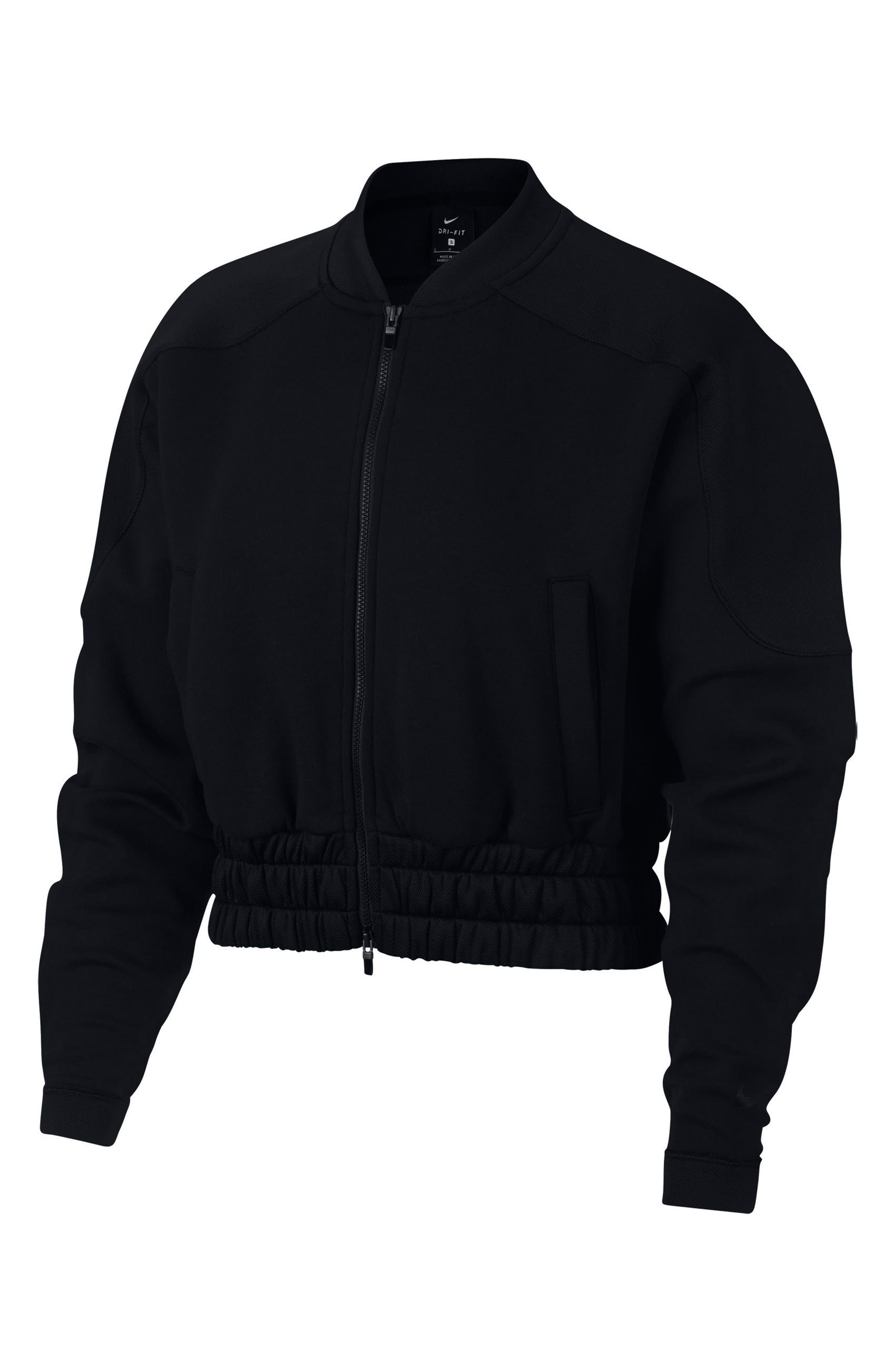 Dry Women's Bomber Jacket,                             Main thumbnail 1, color,                             BLACK/ BLACK