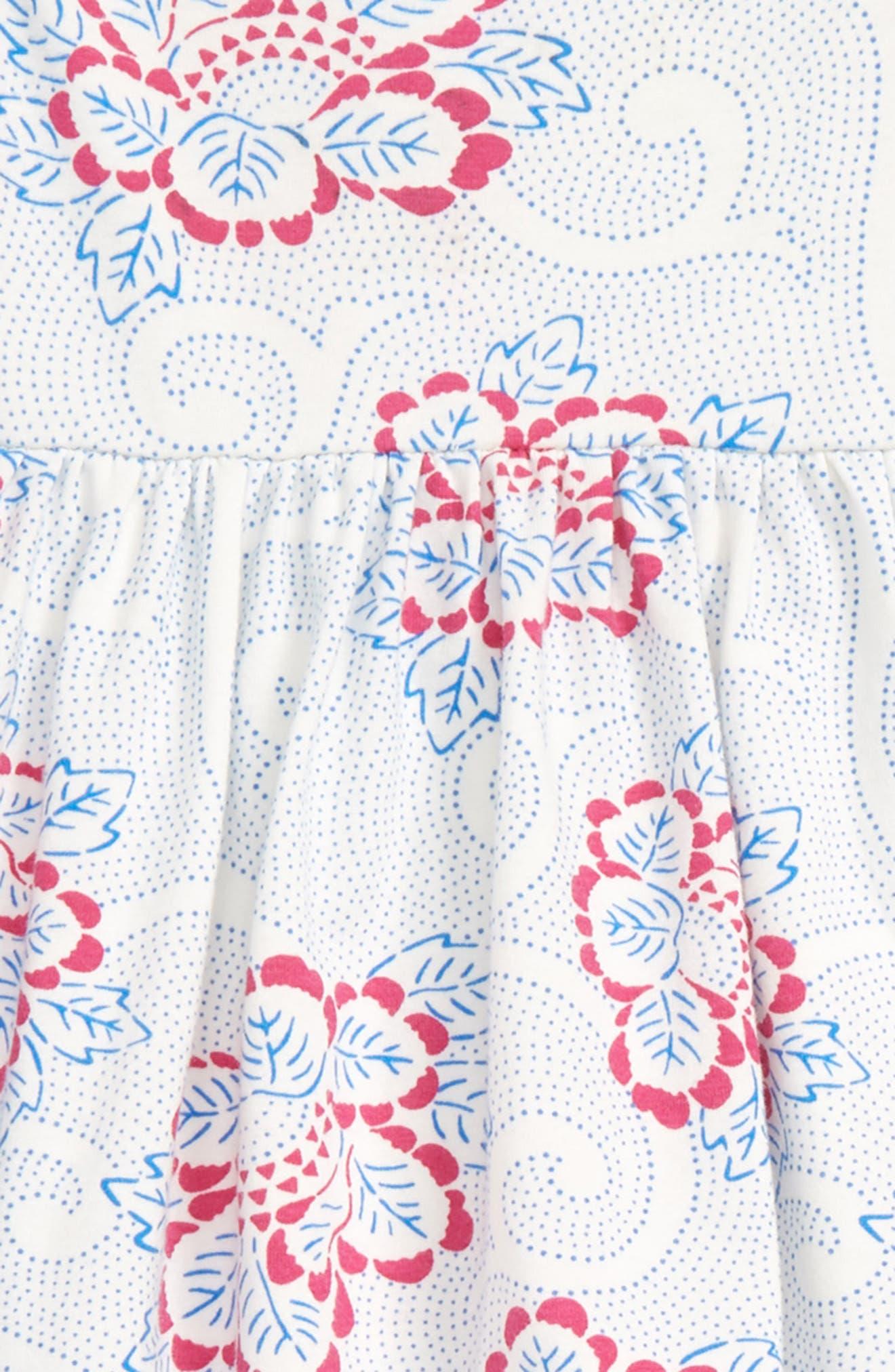 Knit Dress,                             Alternate thumbnail 2, color,                             IVORY EGRET PIAZZA FLORAL