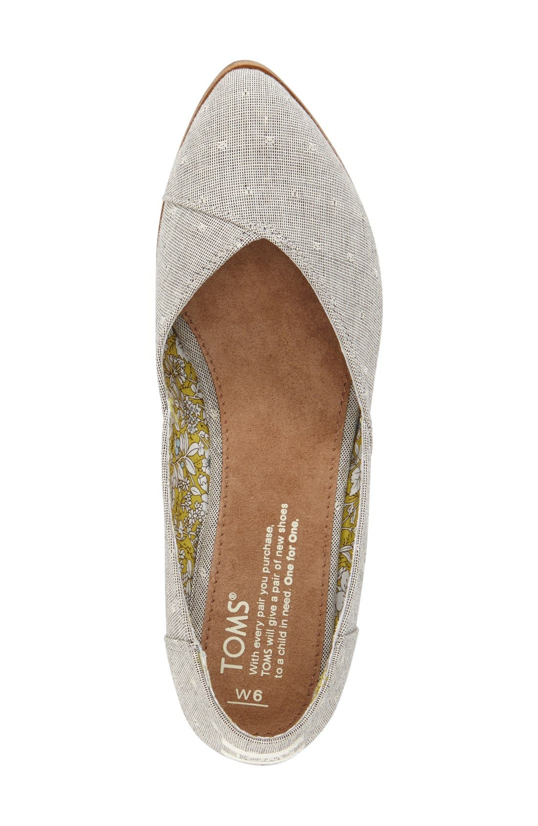 'Jutti' Chambray Flat,                             Alternate thumbnail 4, color,