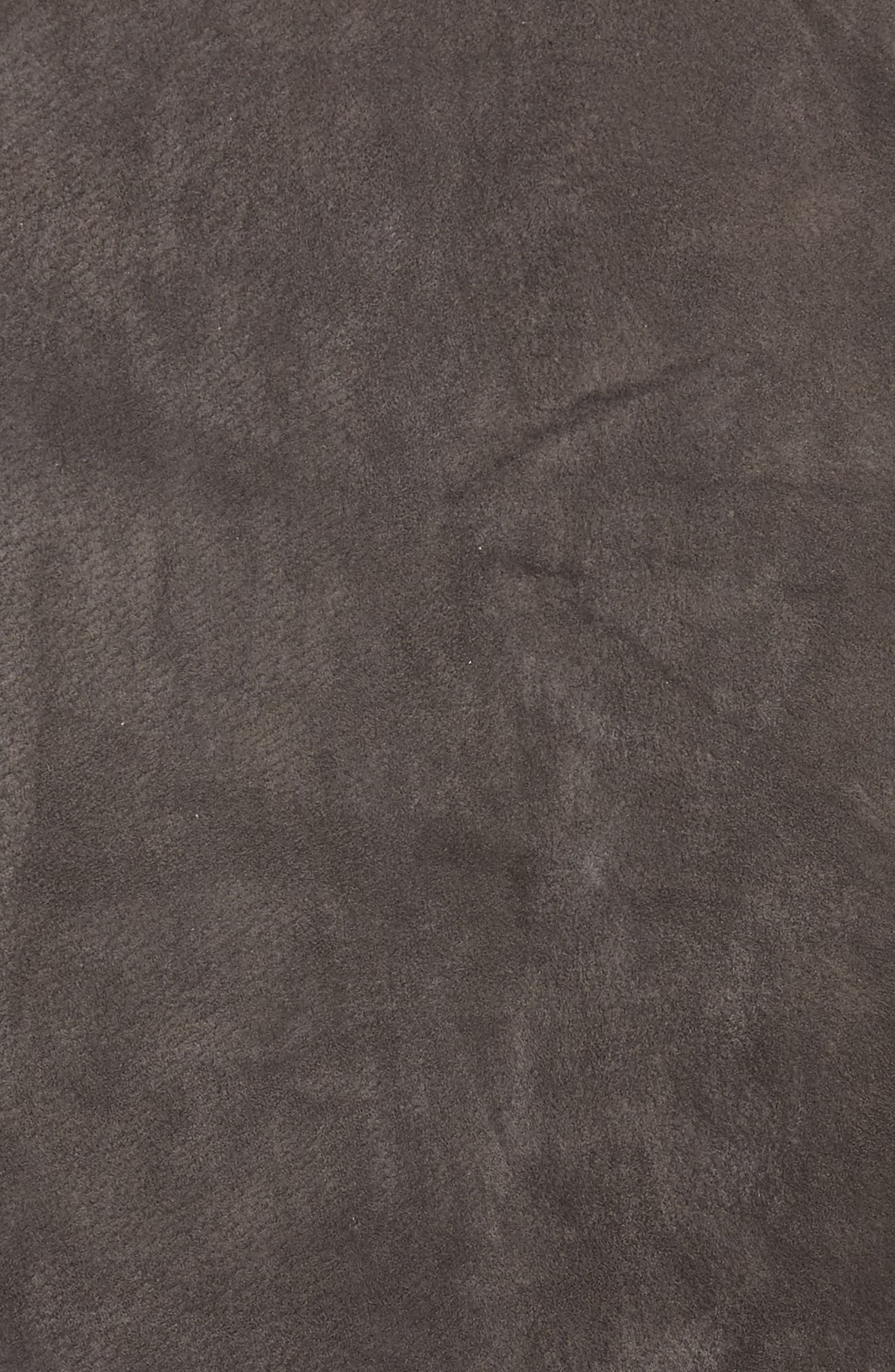 Suede Miniskirt,                             Alternate thumbnail 5, color,                             FRENCH GREY