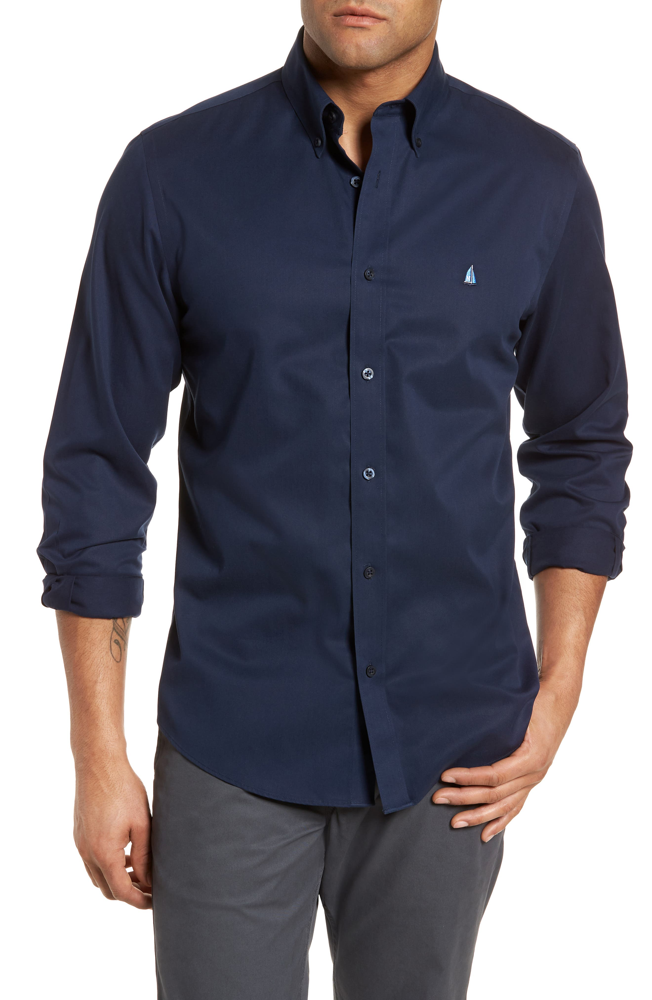 Smartcare<sup>™</sup> Traditional Fit Twill Boat Shirt,                             Alternate thumbnail 57, color,