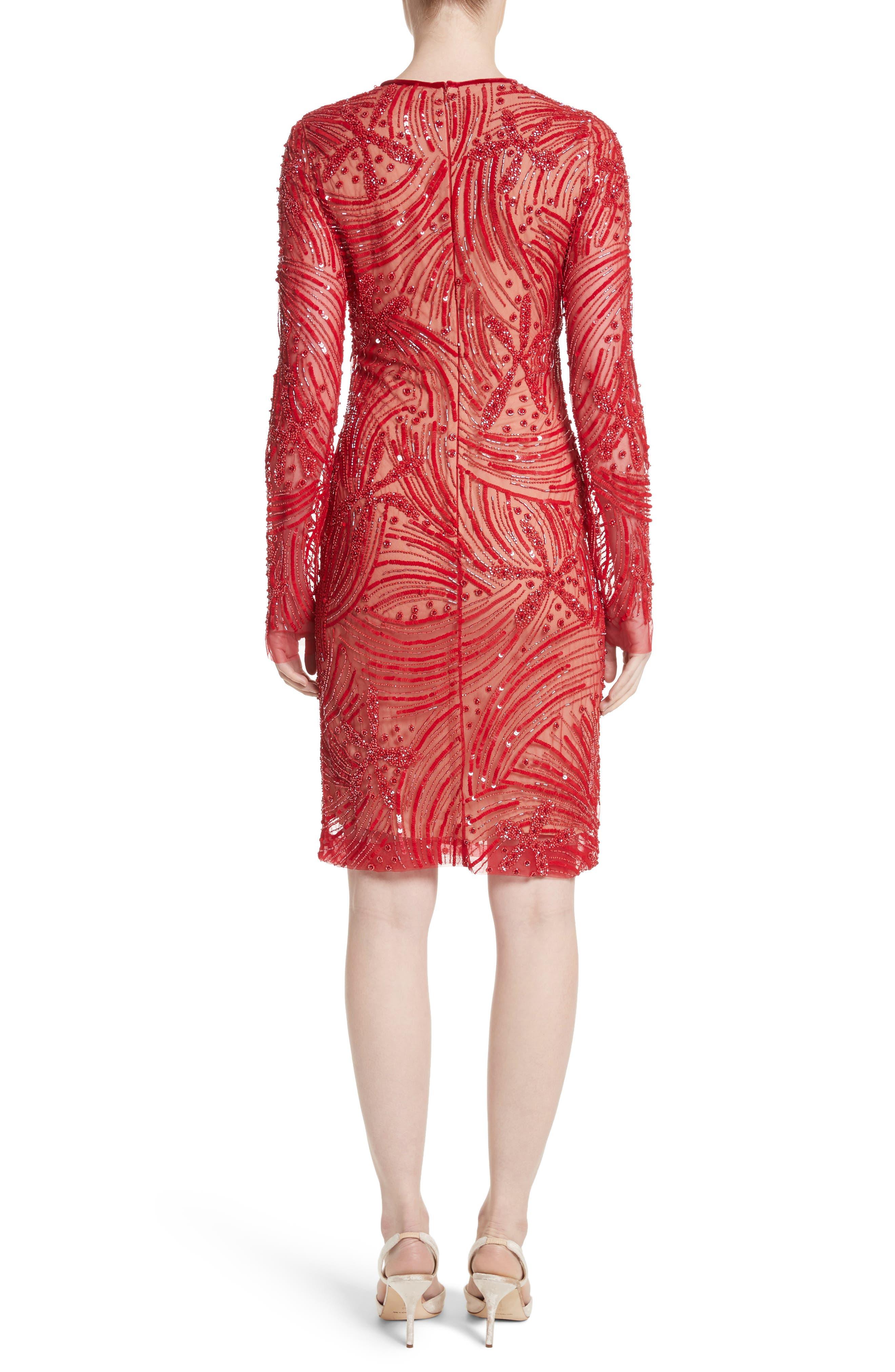 Beaded Sheath Dress,                             Alternate thumbnail 2, color,                             600