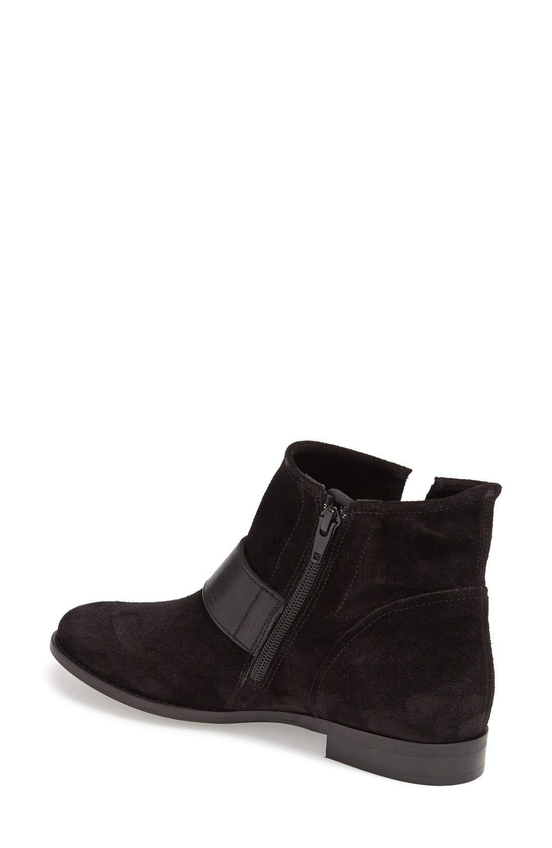 PAUL GREEN,                             'Bixby' Leather Bootie,                             Alternate thumbnail 4, color,                             009