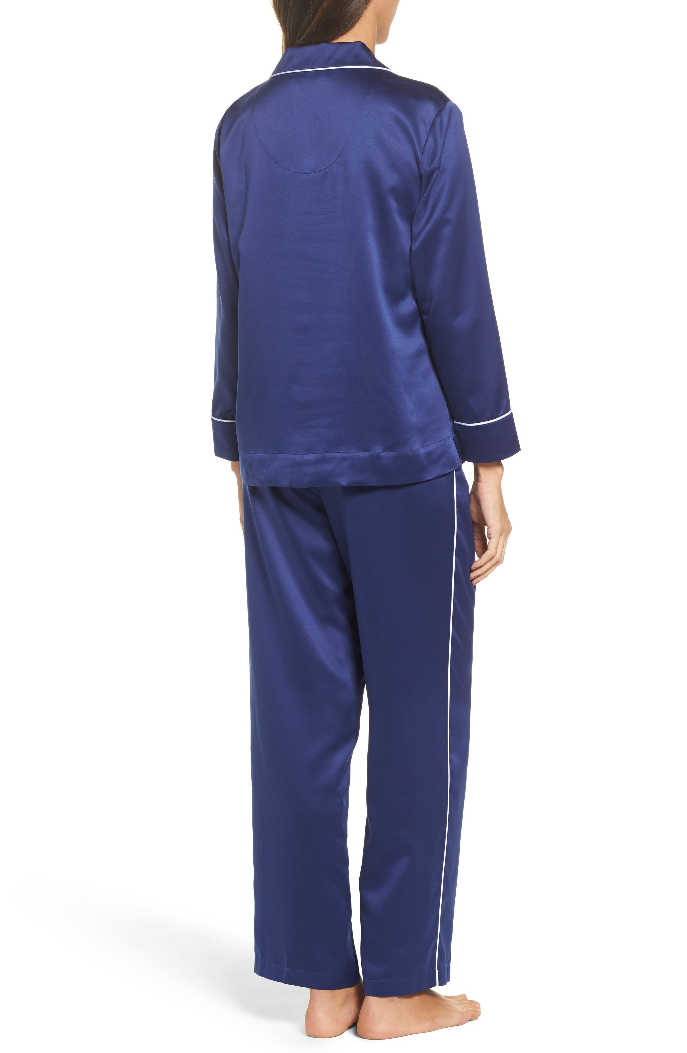 Satin Pajamas,                             Alternate thumbnail 2, color,                             410