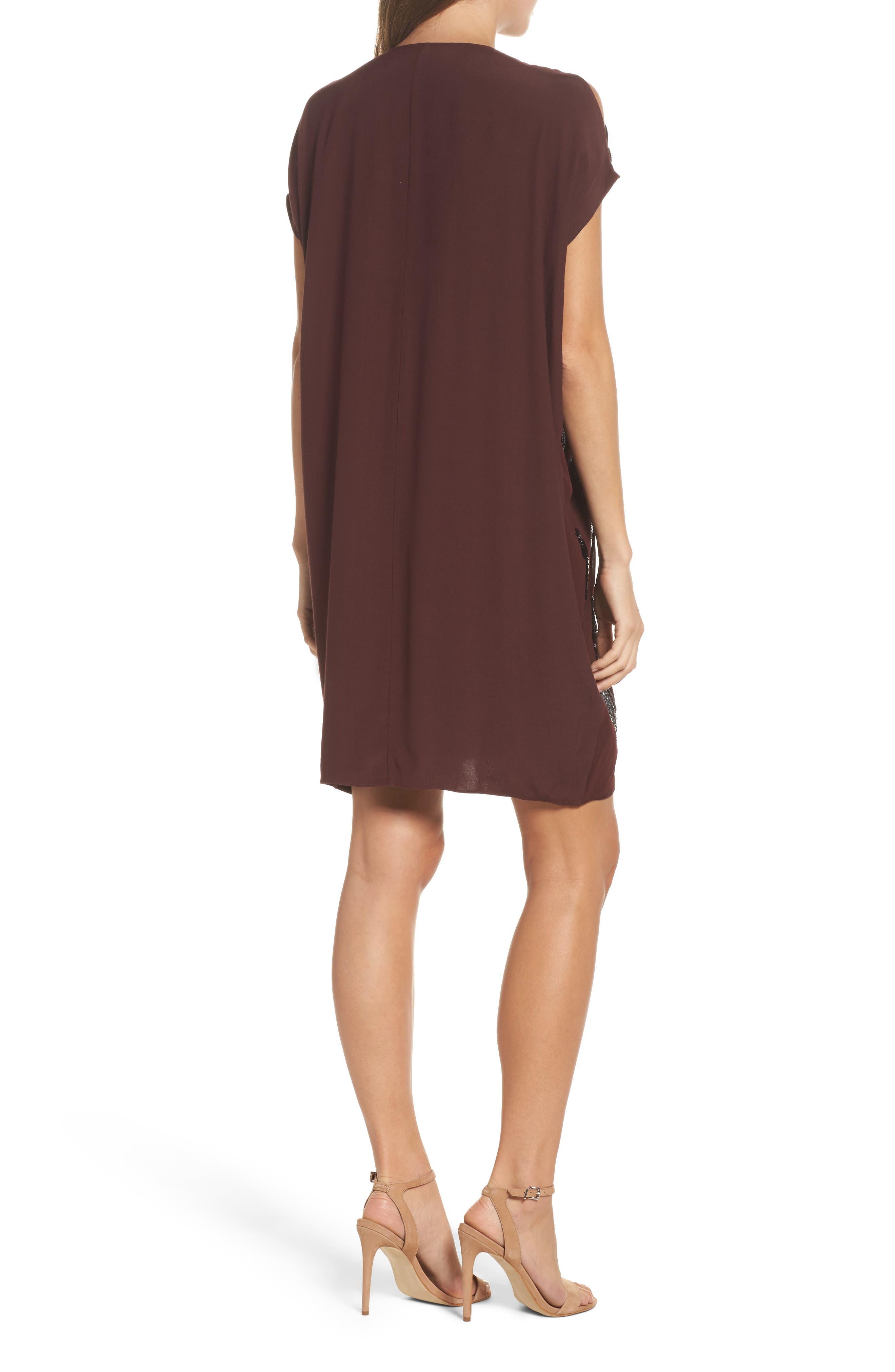 Sequin Cold Shoulder Shift Dress,                             Alternate thumbnail 2, color,                             712