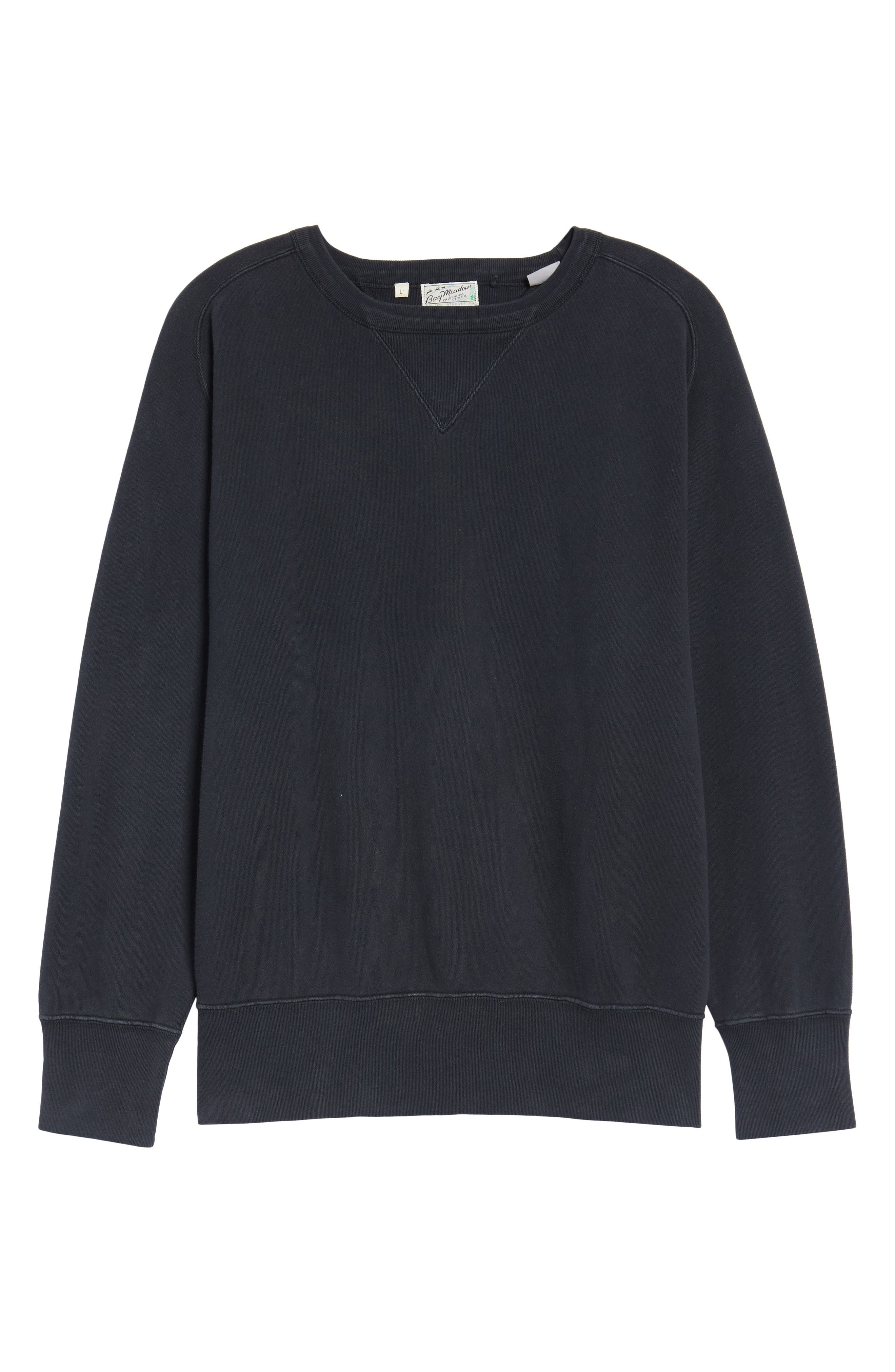 Bay Meadows Sweatshirt,                             Alternate thumbnail 6, color,                             BLACK