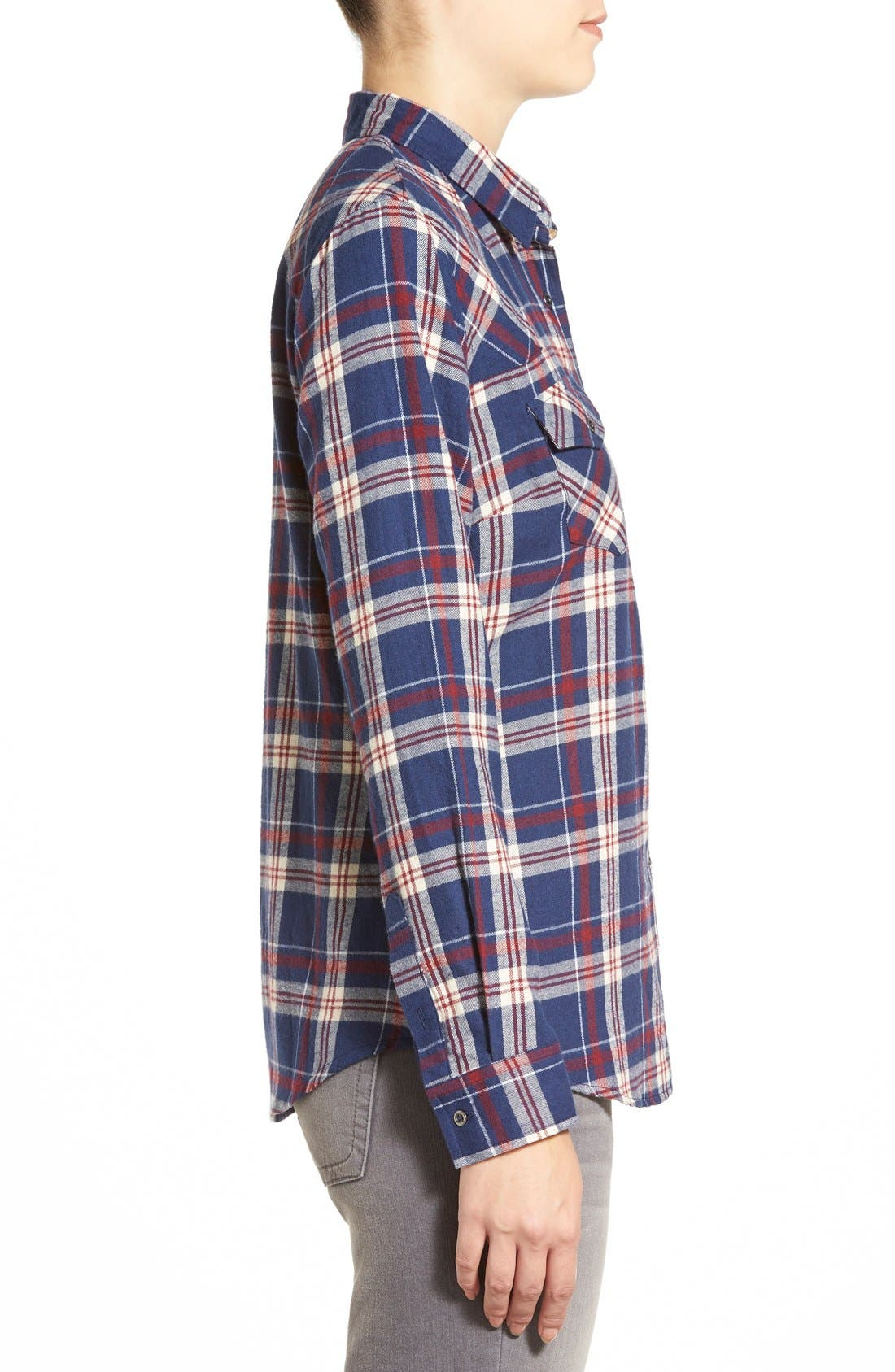Plaid Cotton Western Shirt,                             Alternate thumbnail 2, color,                             404