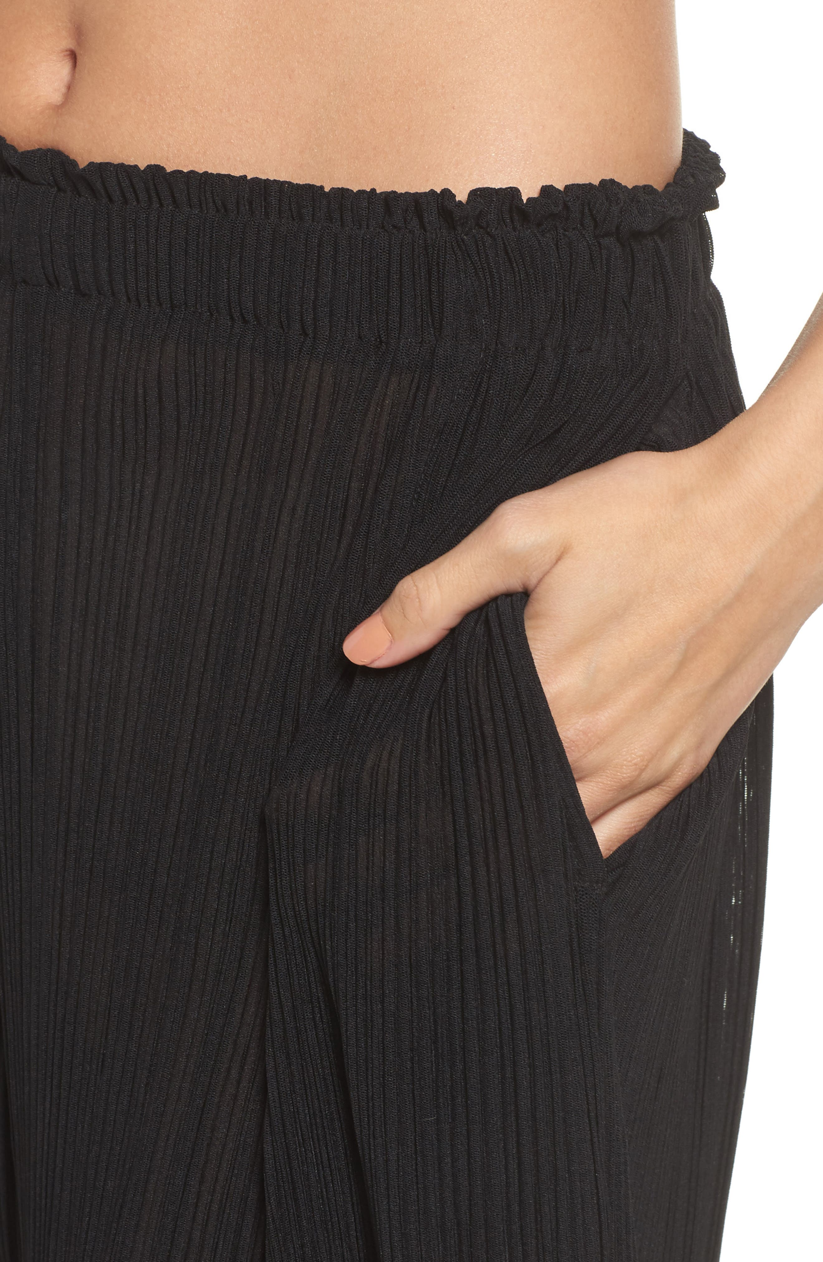 Mika Pleated Lounge Pants,                             Alternate thumbnail 4, color,                             009