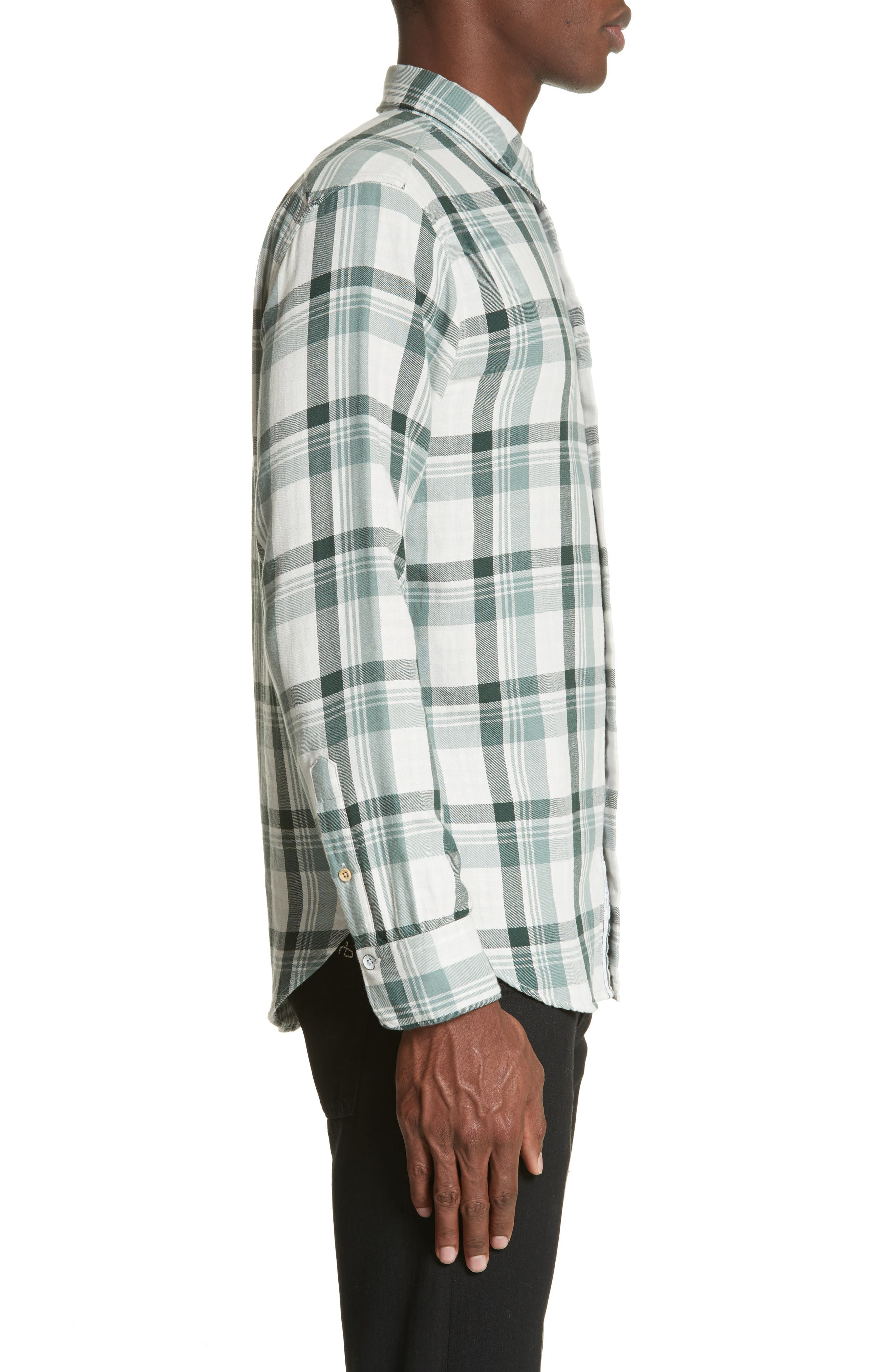 Plaid Woven Shirt,                             Alternate thumbnail 3, color,                             320