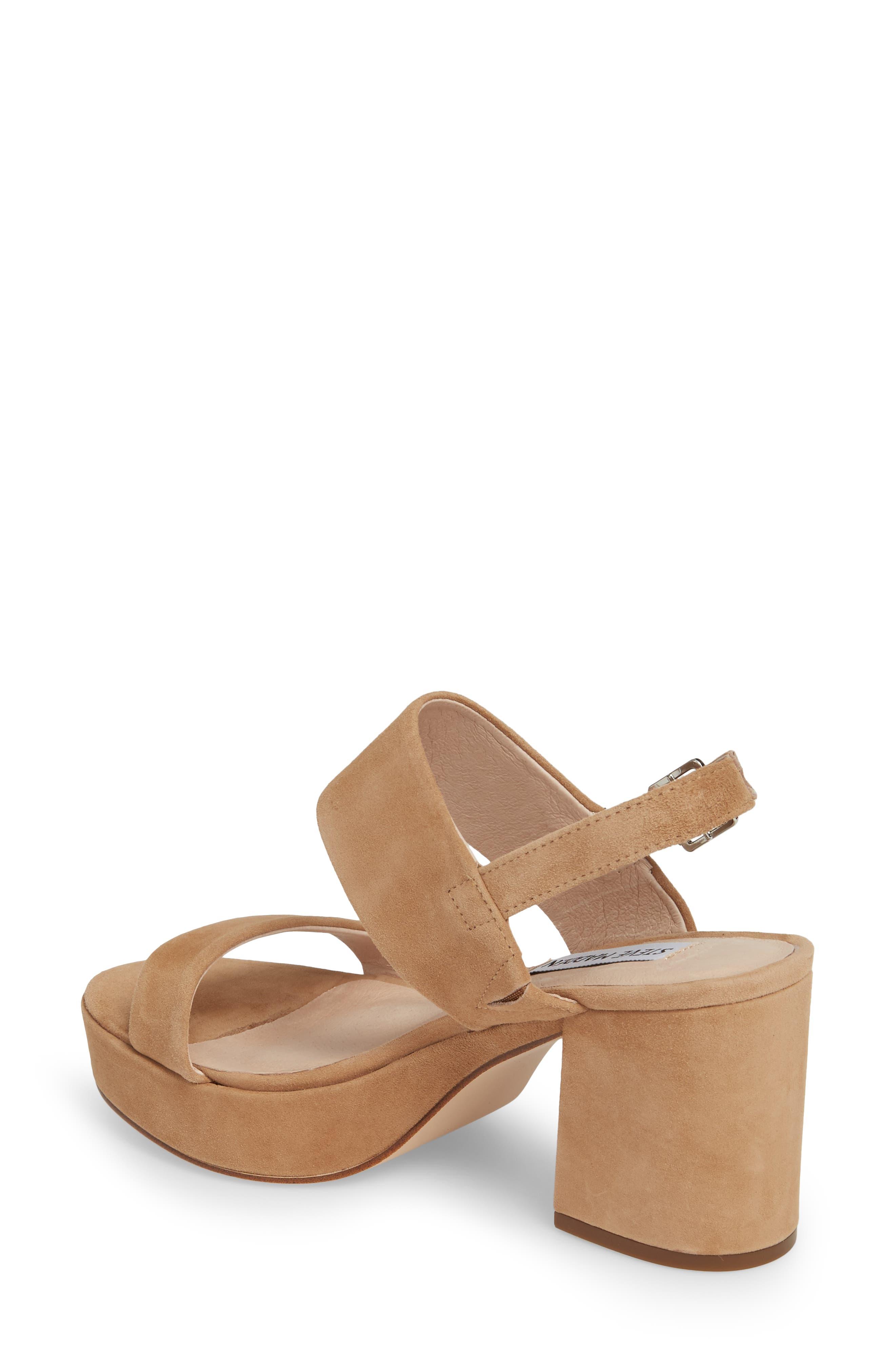 Reba Slingback Platform Sandal,                             Alternate thumbnail 2, color,                             TAN SUEDE