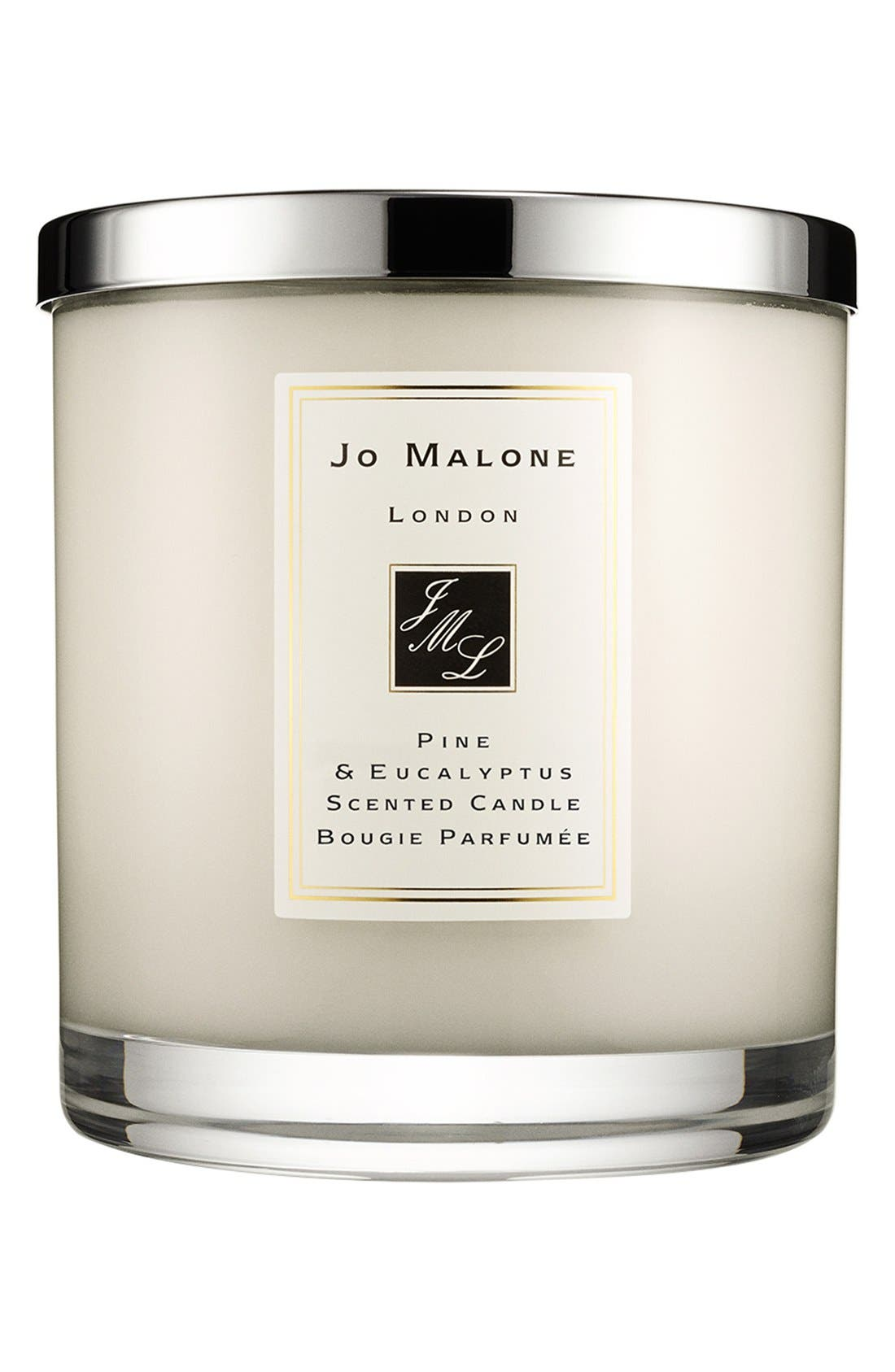 Jo Malone<sup>™</sup> 'Pine & Eucalyptus' Scented Home Candle,                             Main thumbnail 1, color,                             000