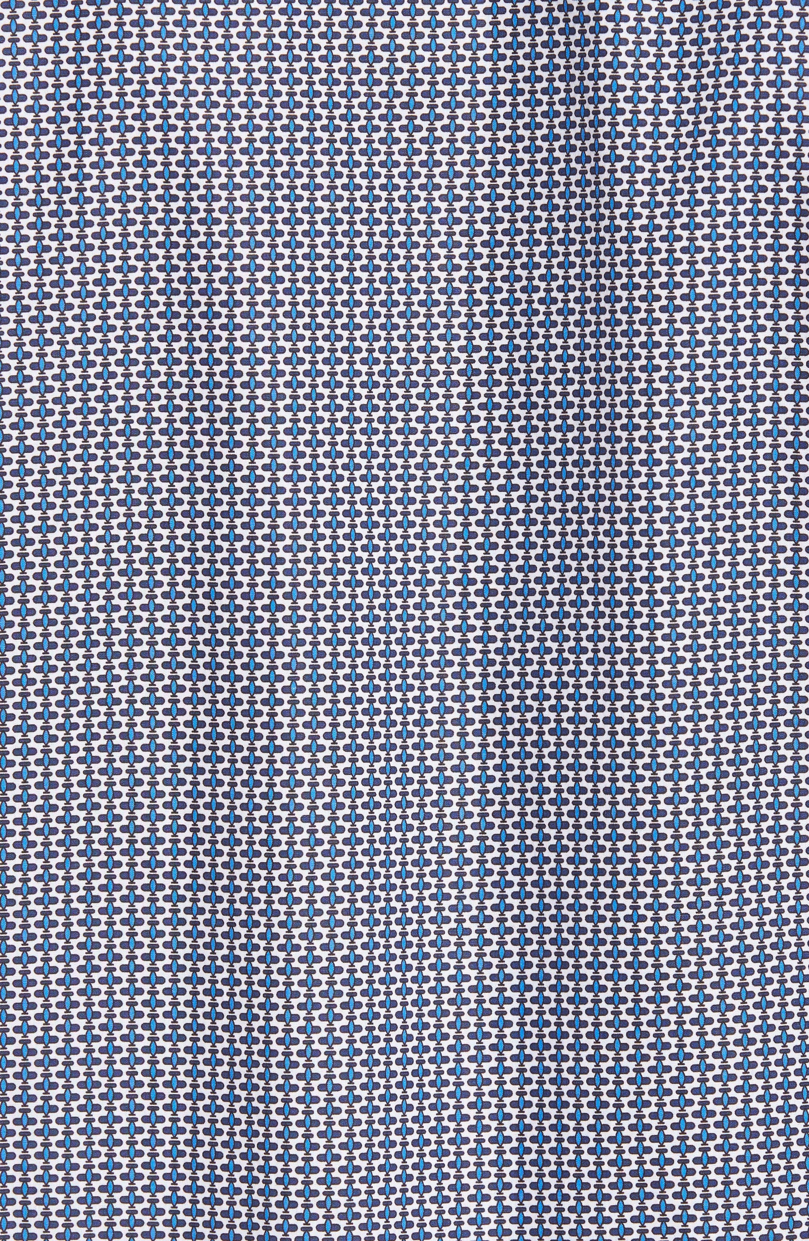 Shaped Fit Print Sport Shirt,                             Alternate thumbnail 5, color,                             400