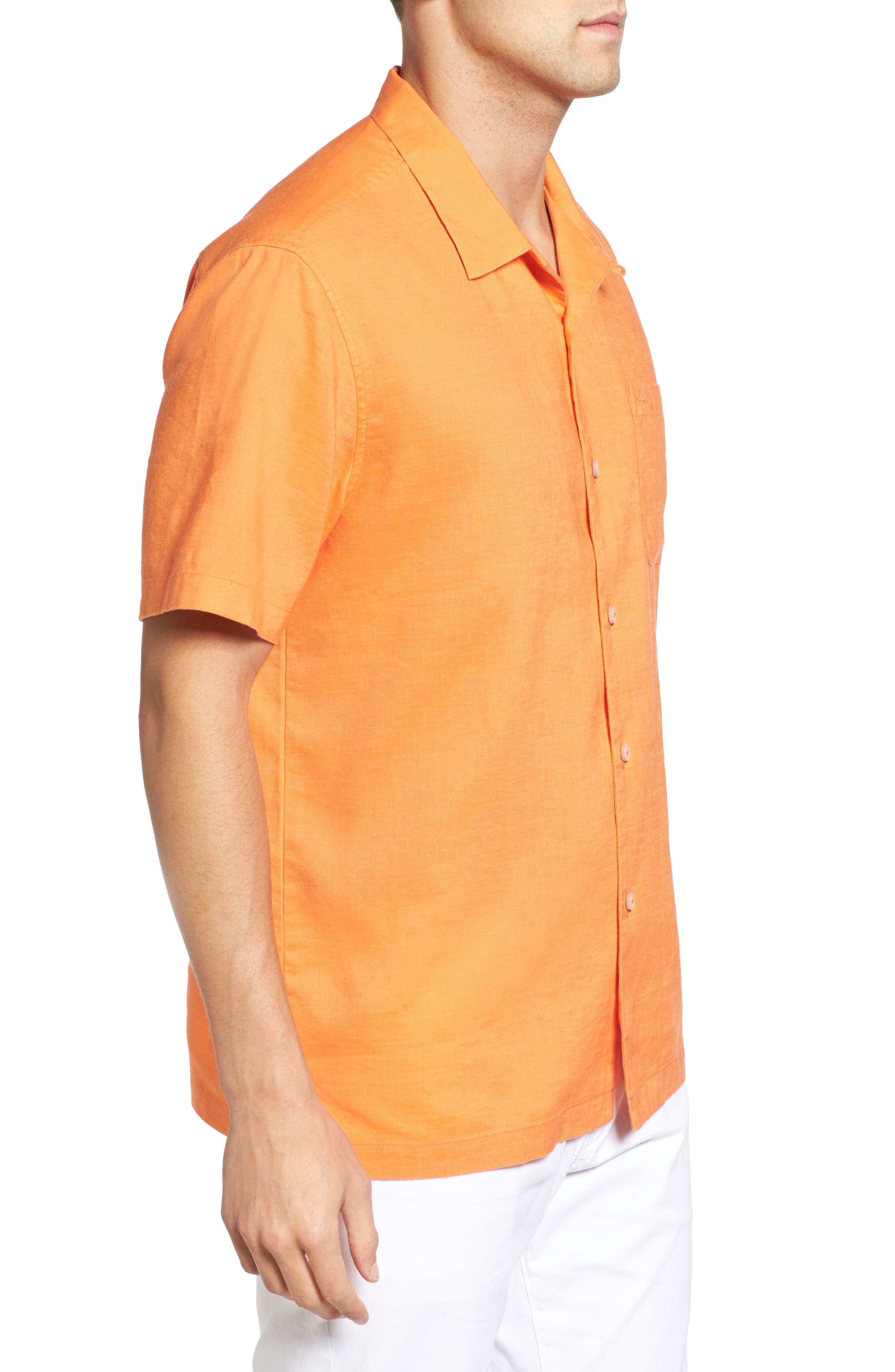 Monaco Tides Standard Fit Linen Blend Camp Shirt,                             Alternate thumbnail 18, color,