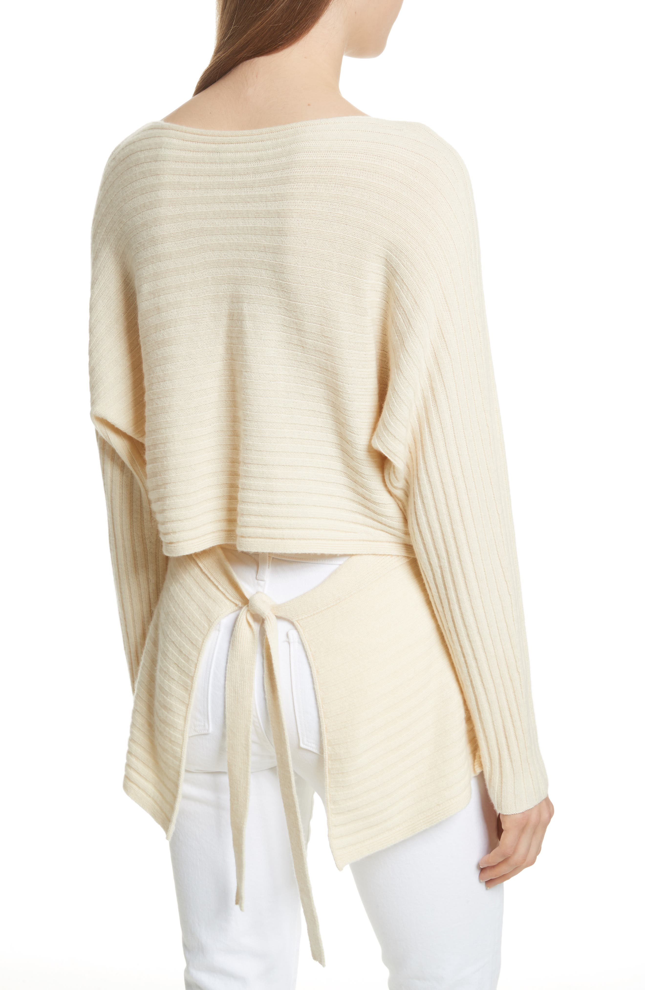 Tie Back Wool & Cashmere Sweater,                             Alternate thumbnail 6, color,