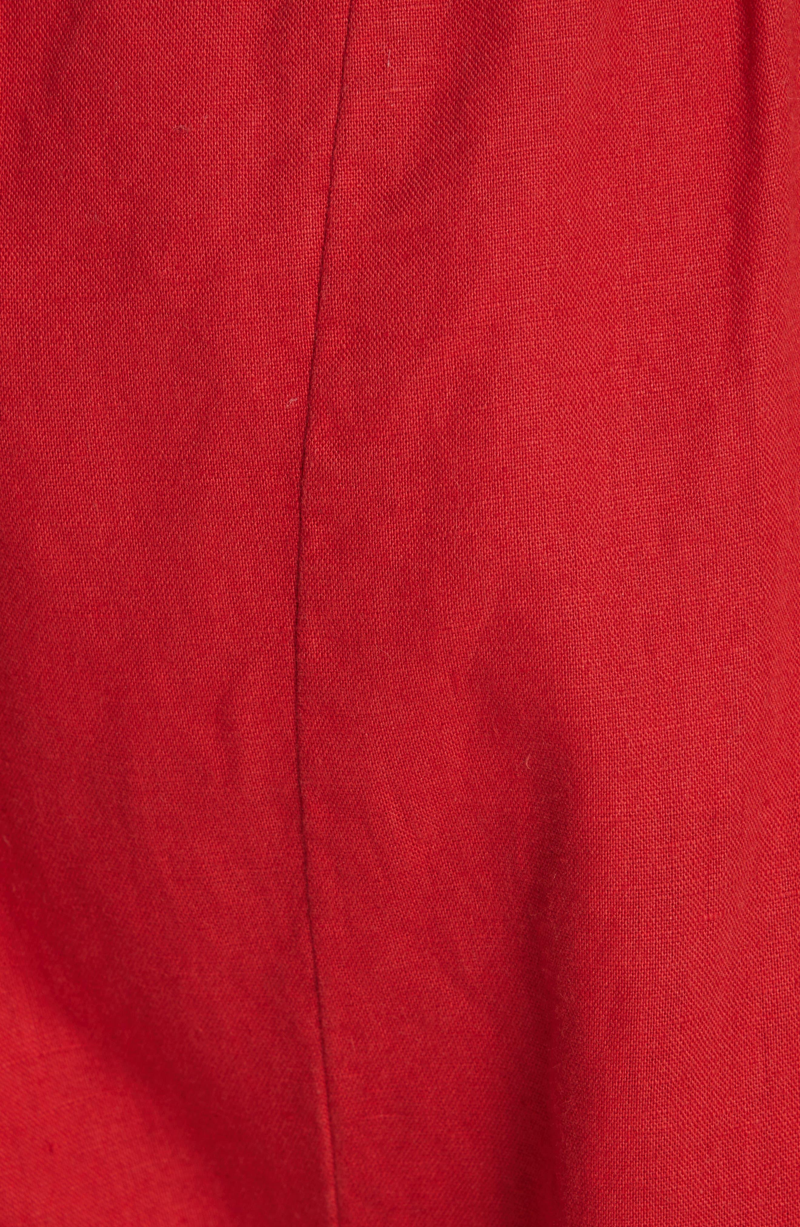 The Paper Bag Harem Pants,                             Alternate thumbnail 5, color,                             POPPY