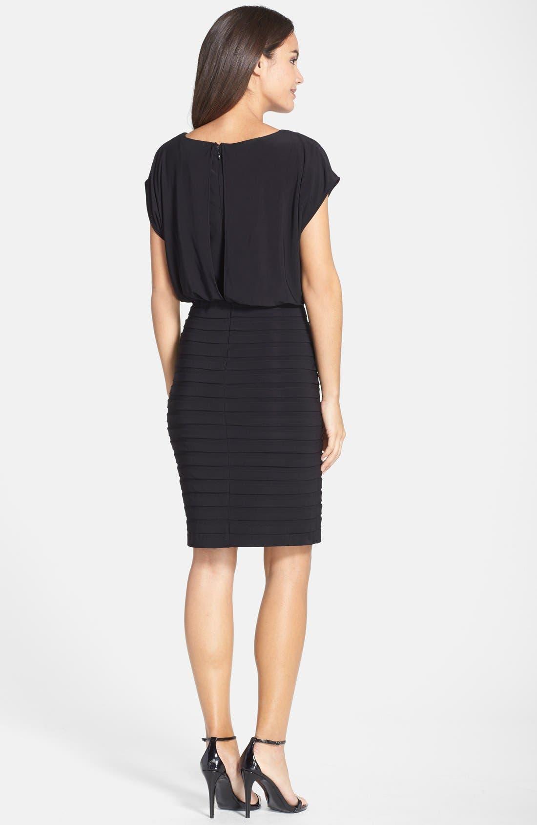 Pleated Jersey Blouson Dress,                             Alternate thumbnail 2, color,                             001