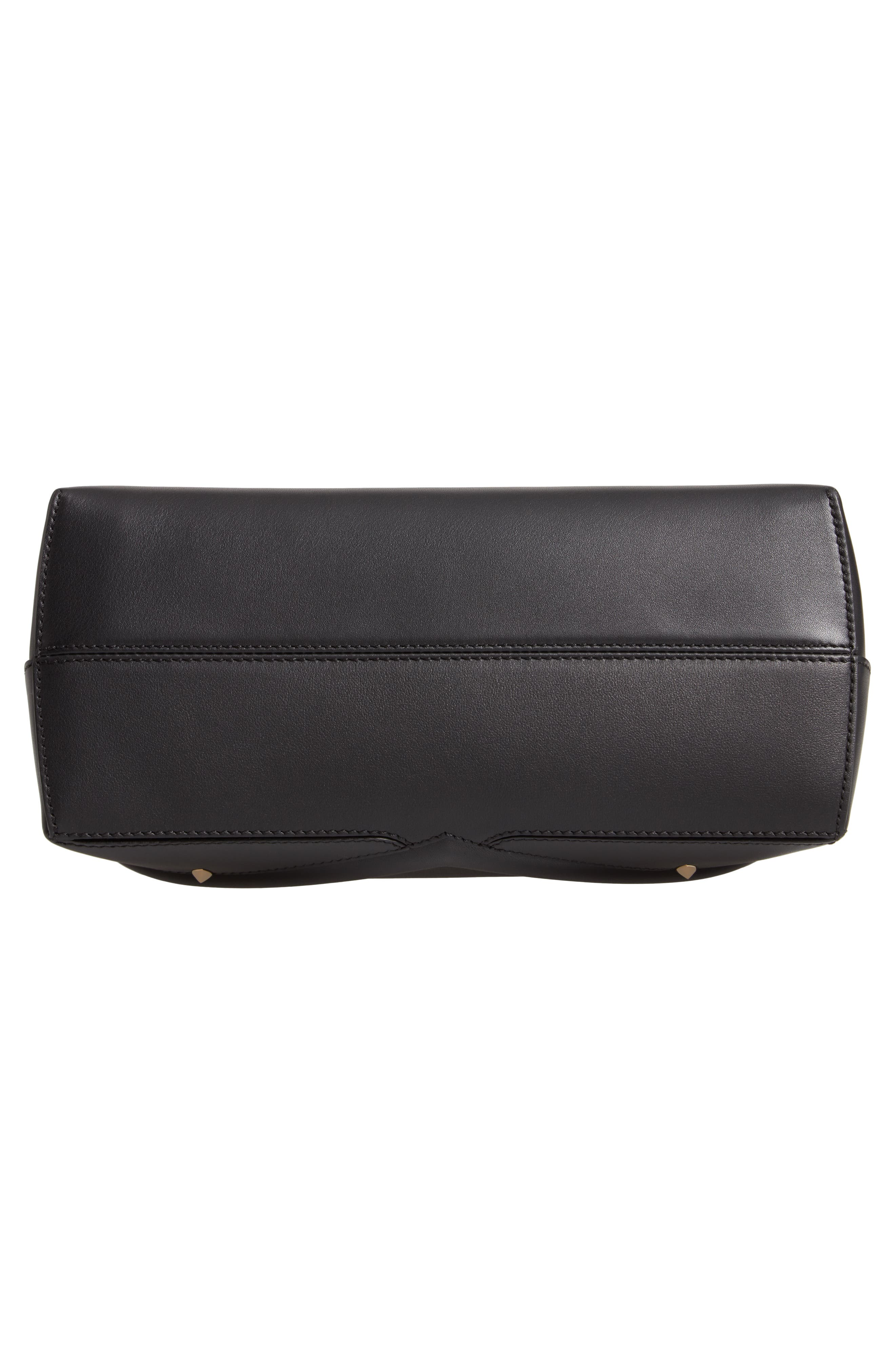 By the Way - Wonders Convertible Leather Shoulder Bag,                             Alternate thumbnail 6, color,                             NERO/ ORO SOFT