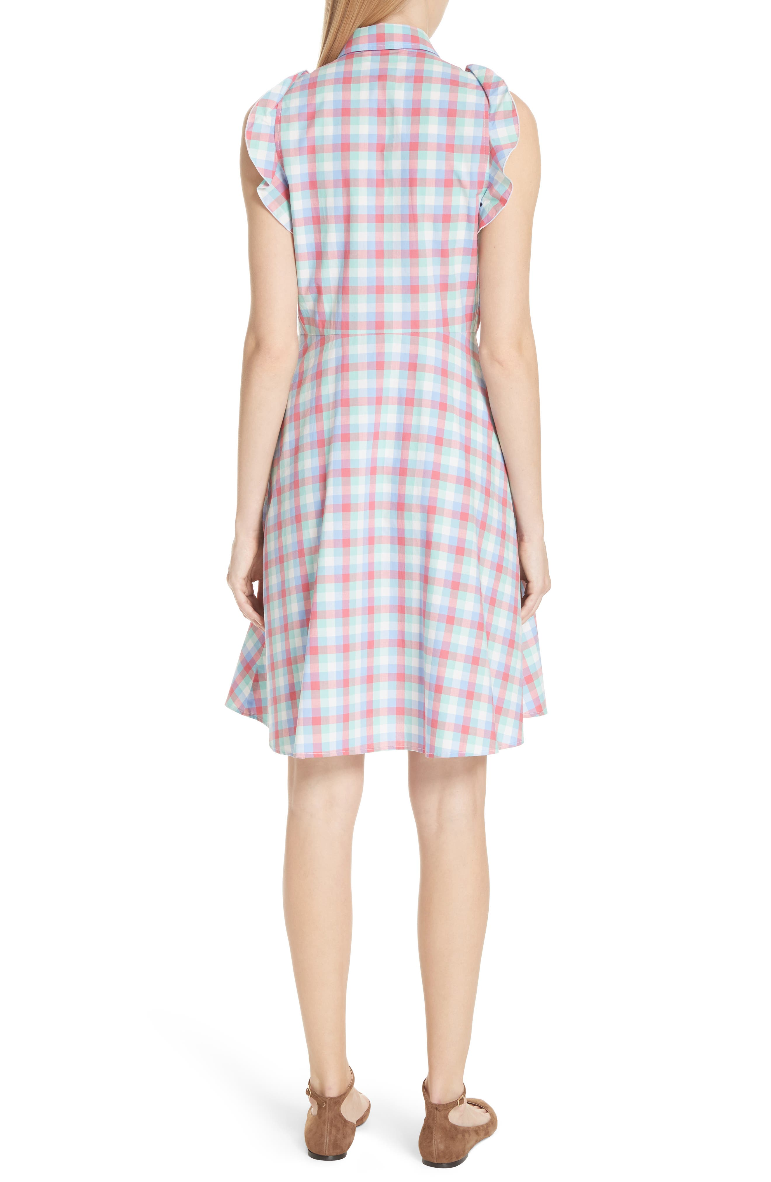 madras poplin shirtdress,                             Alternate thumbnail 2, color,