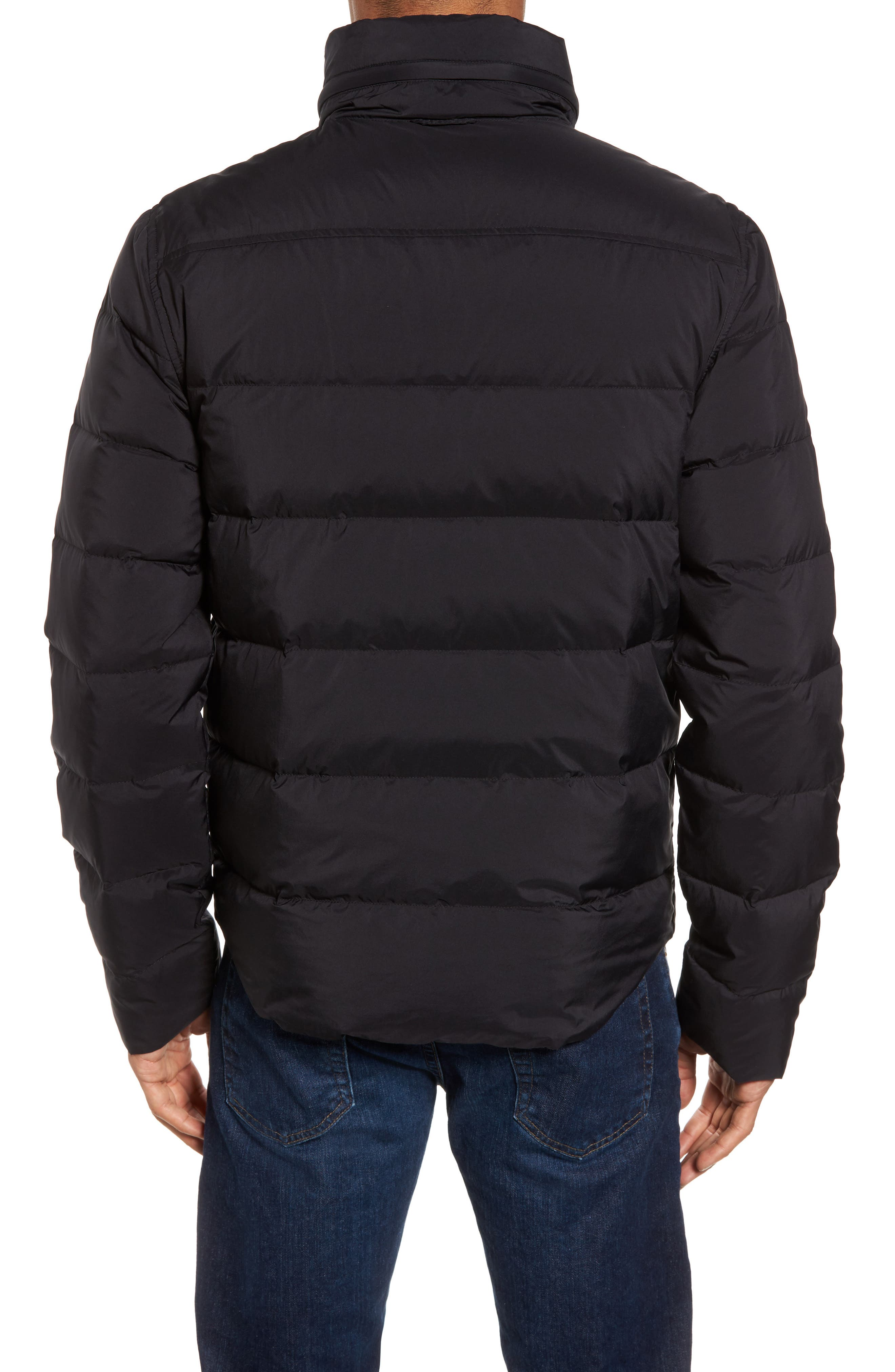 Quilted Down Jacket,                             Alternate thumbnail 2, color,                             001
