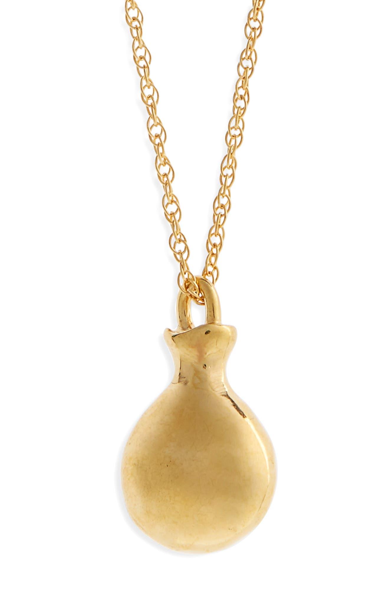 Tiny Perfume Pendant Necklace,                             Main thumbnail 1, color,