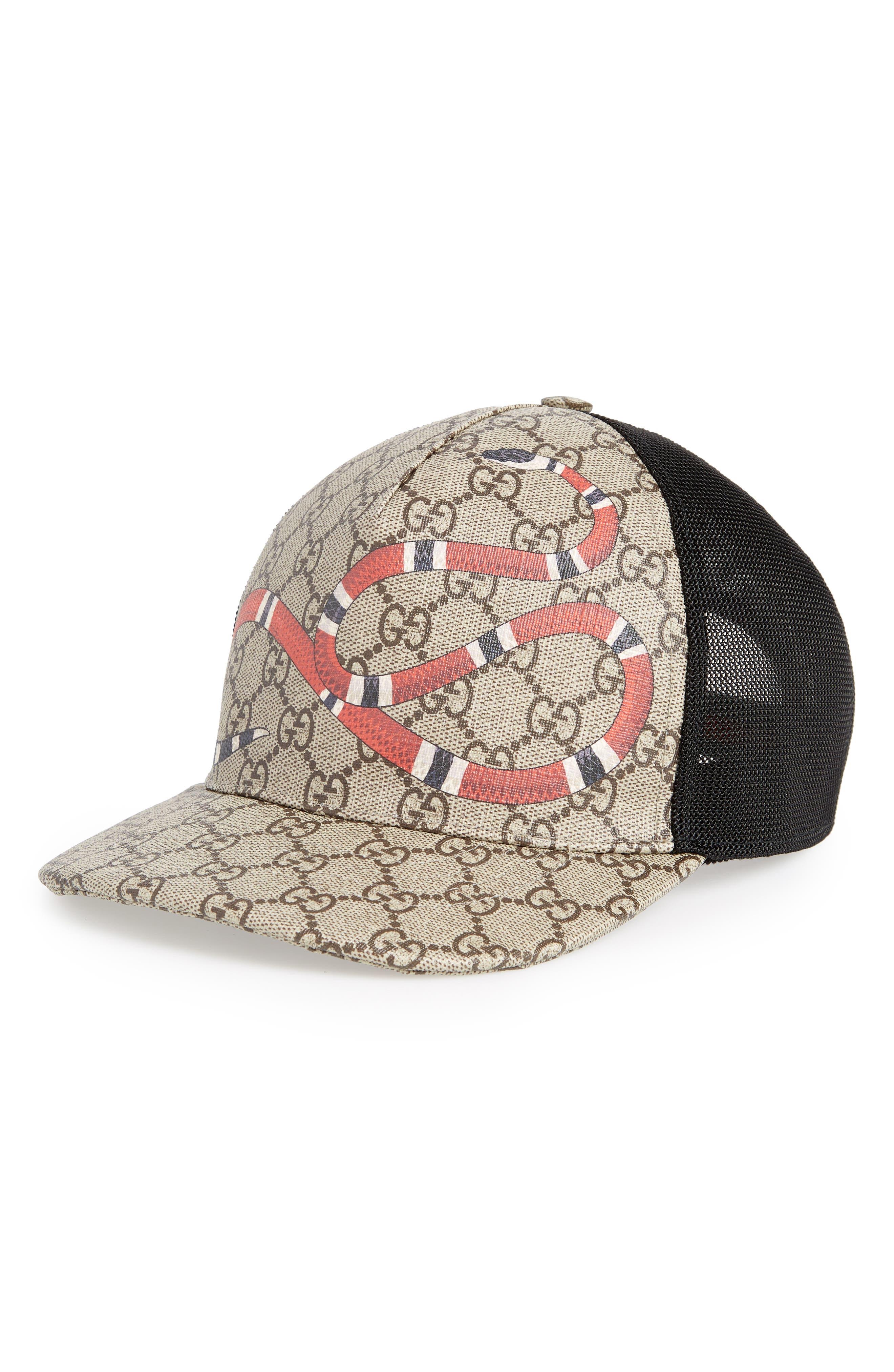Kingsnake Canvas Baseball Cap,                         Main,                         color, BLACK