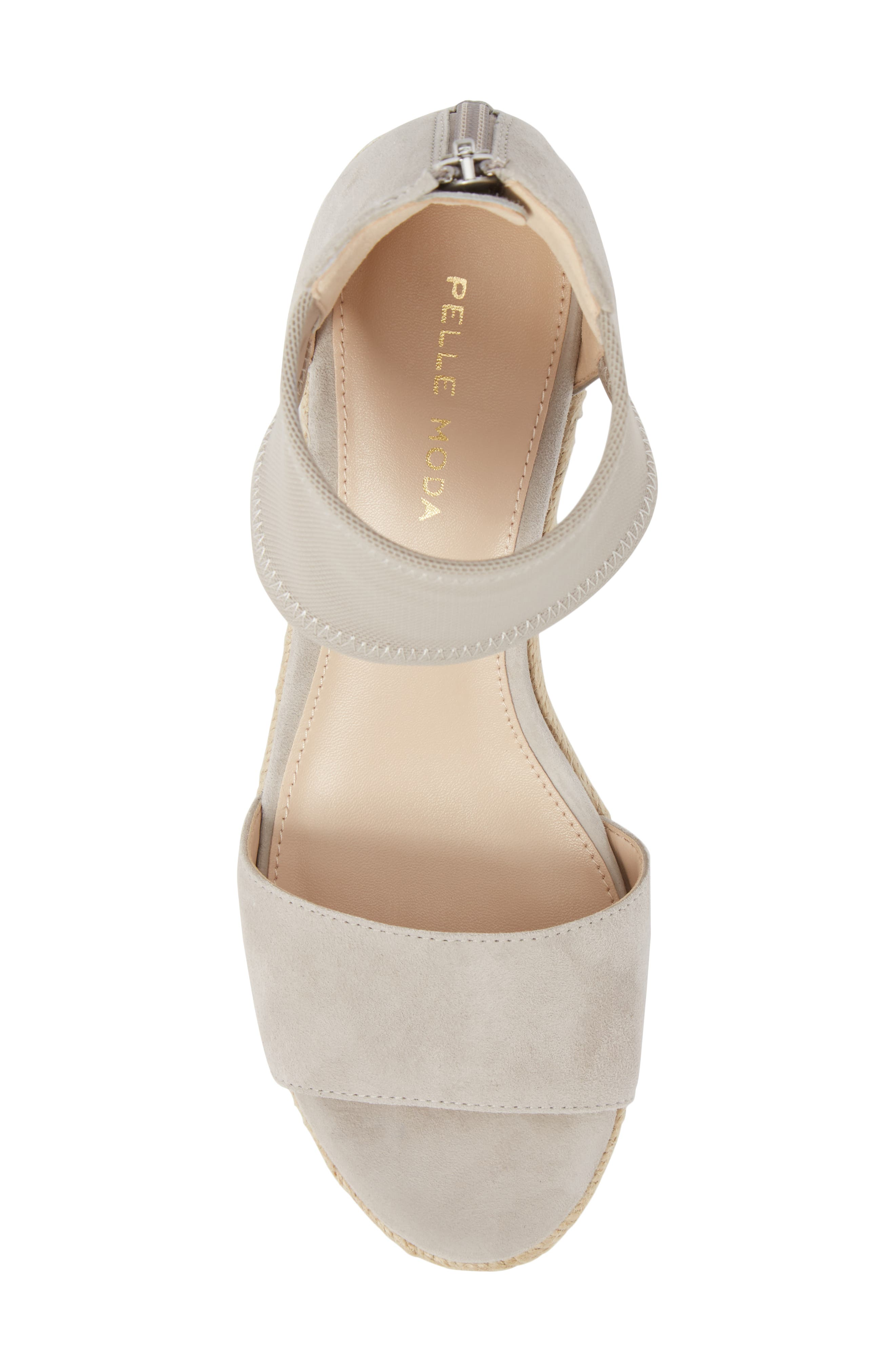 Kona Platform Wedge Sandal,                             Alternate thumbnail 5, color,                             CLOUD SUEDE