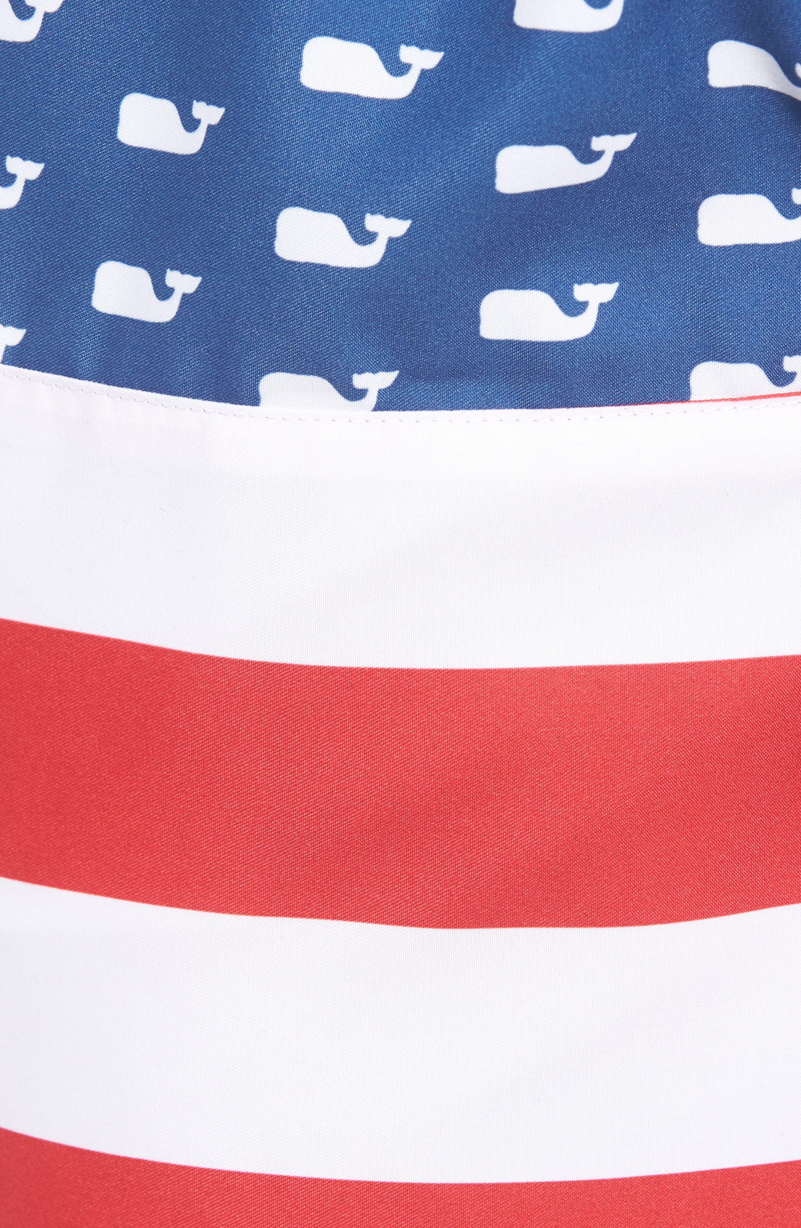 Chappy USA Flag Swim Trunks,                             Alternate thumbnail 5, color,                             461