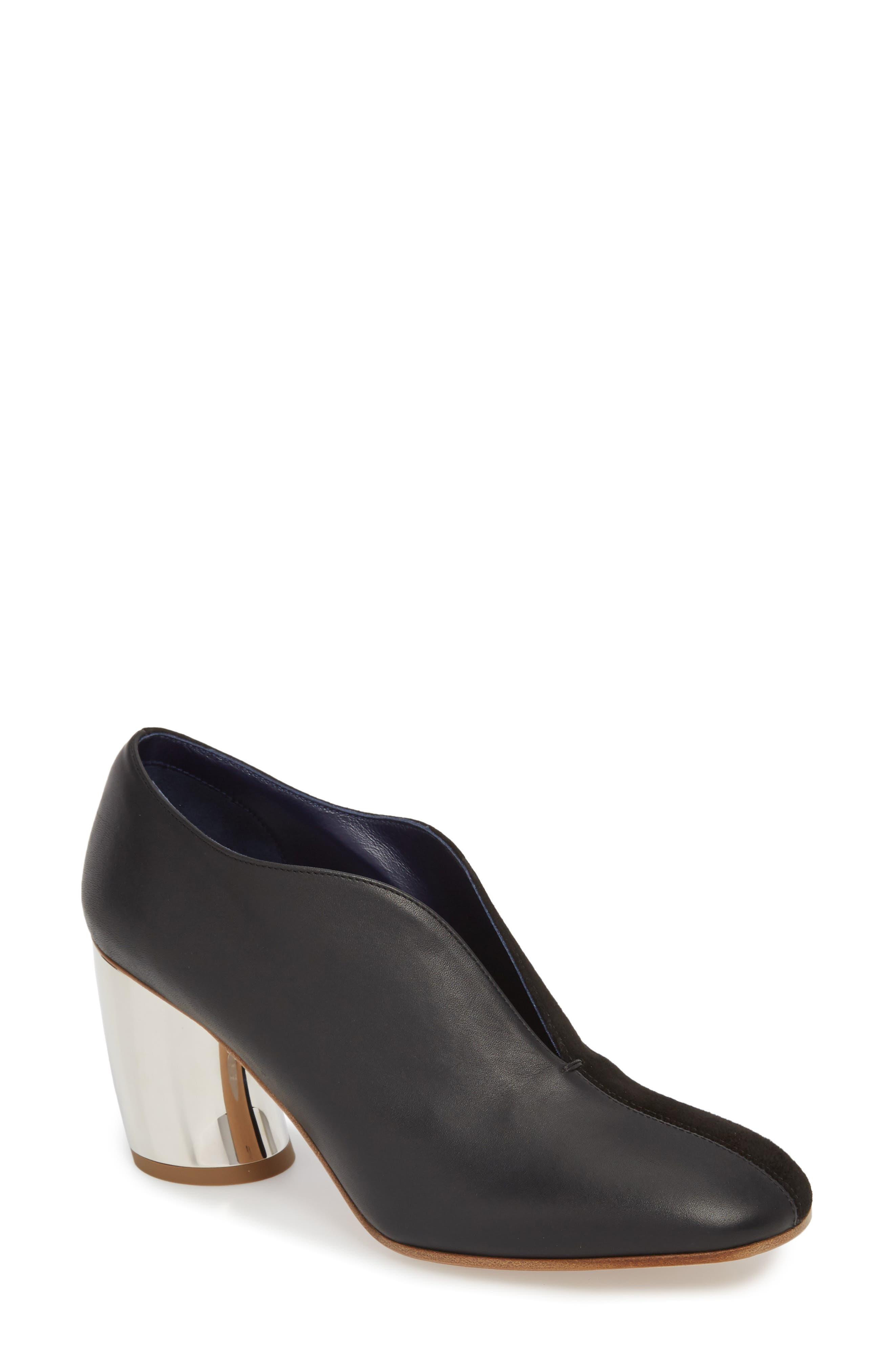 Proenza Schouler Metallic Heel Pump - Black