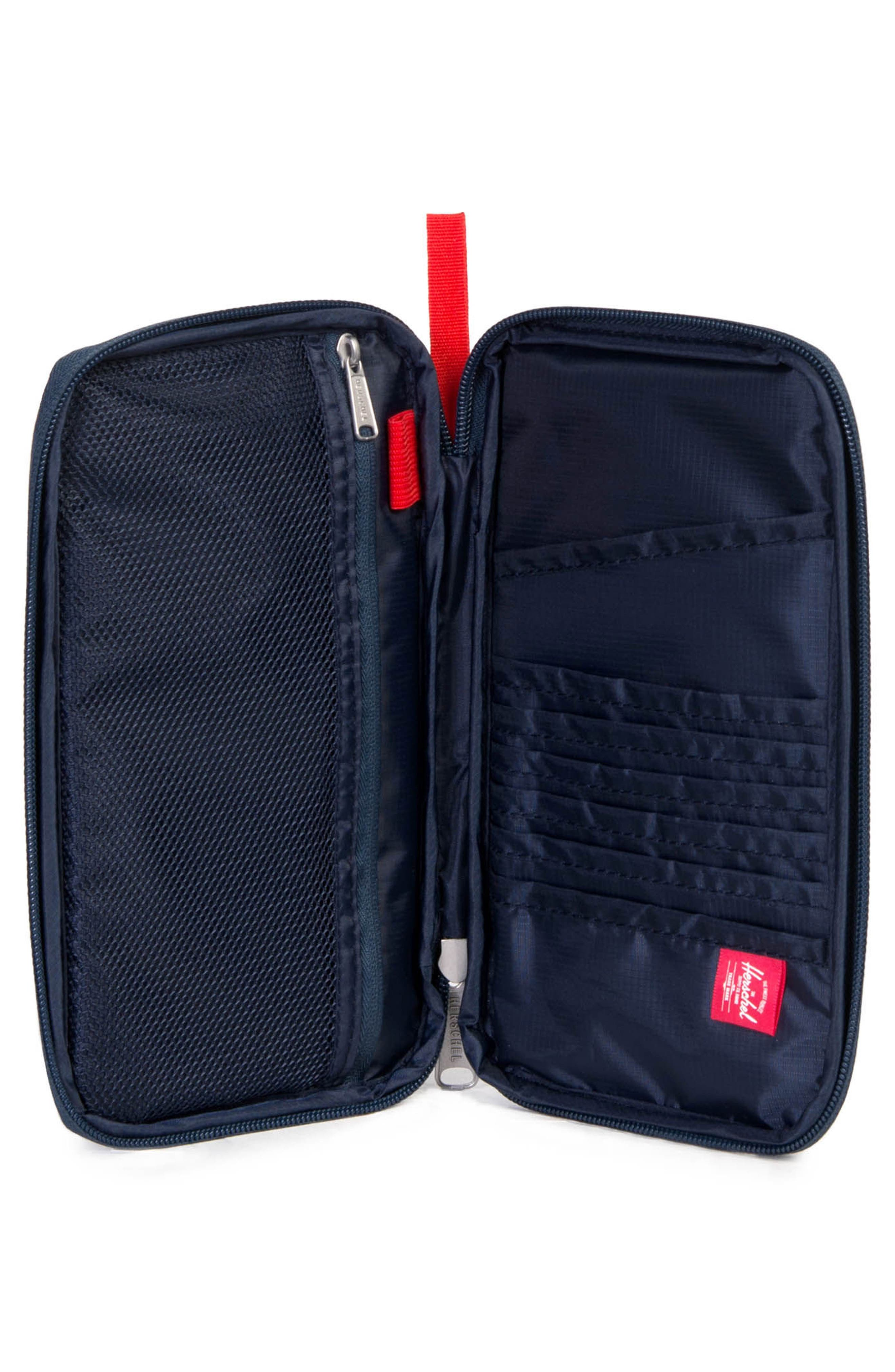 Travel Wallet,                             Alternate thumbnail 2, color,                             NAVY/ RED
