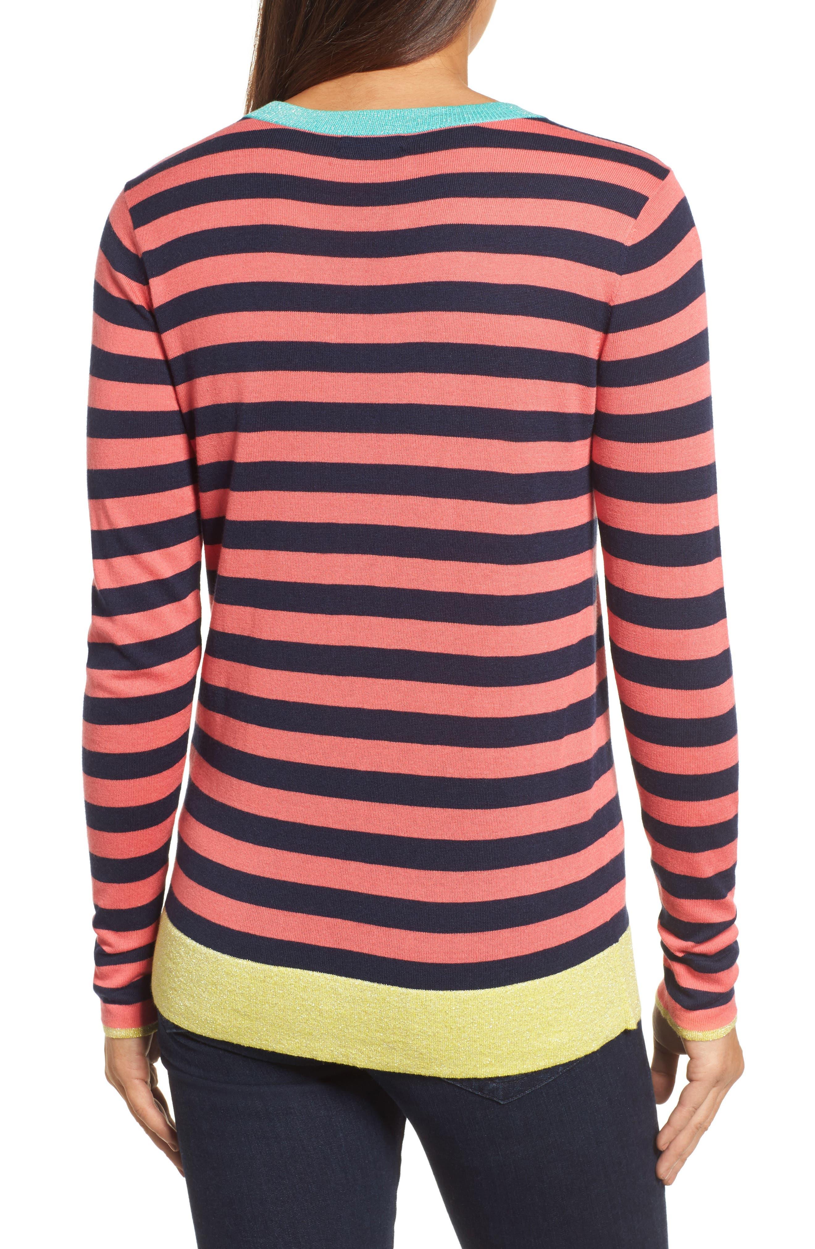 Colorblock Stripe Sweater,                             Alternate thumbnail 8, color,