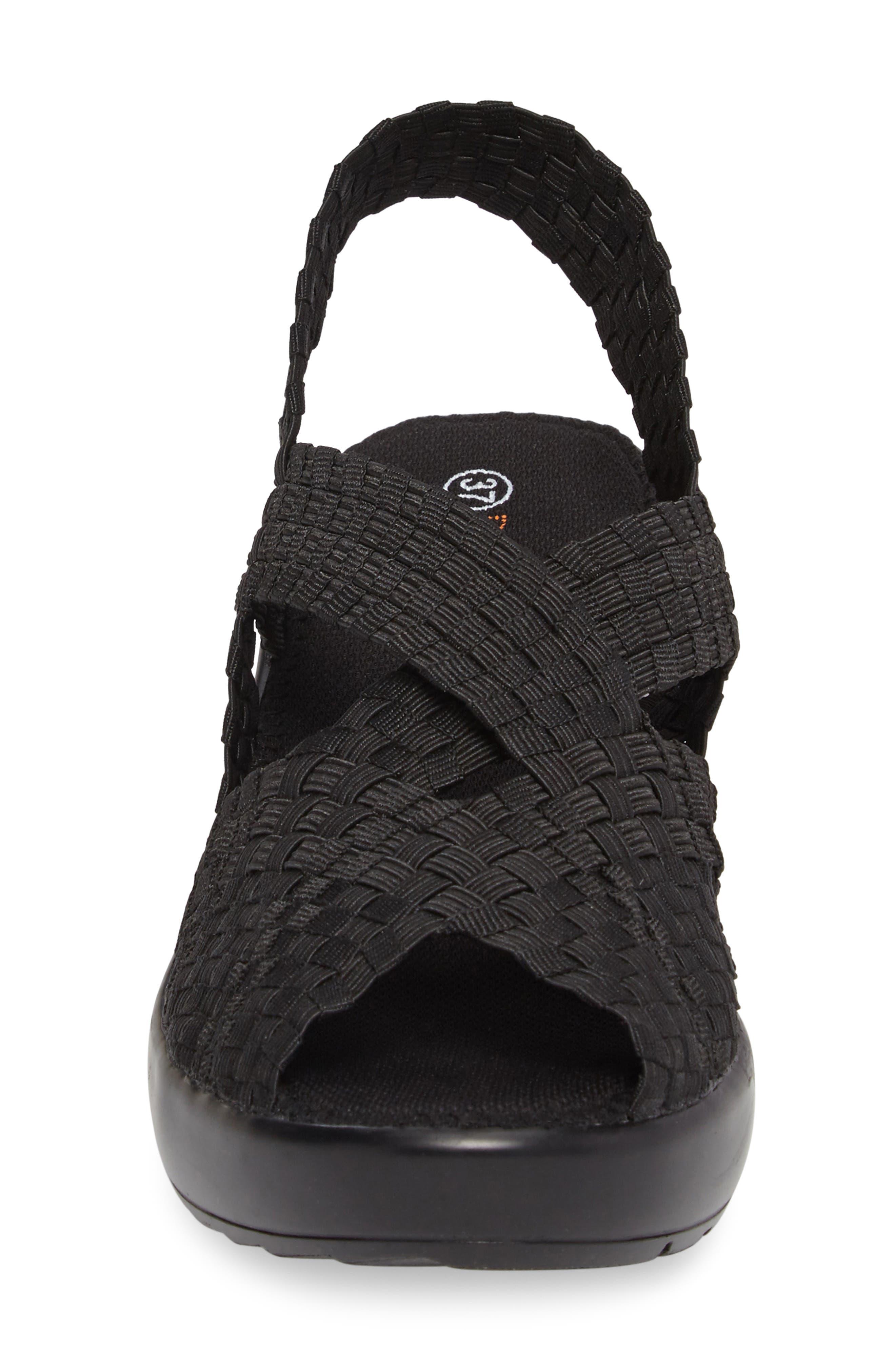 Fresh Brighten Sandal,                             Alternate thumbnail 4, color,                             BLACK FABRIC