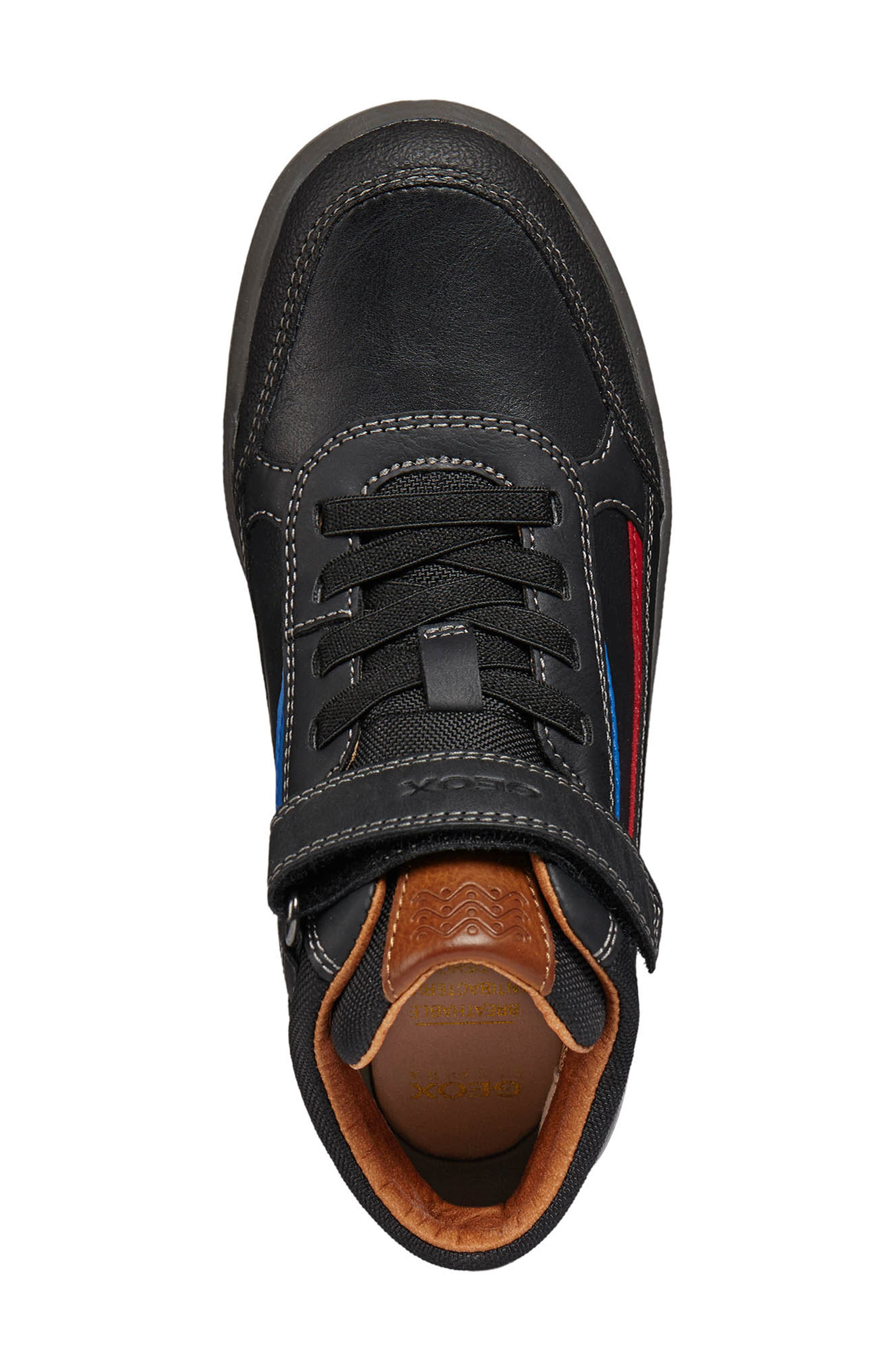 Arzach Mid Top Sneaker,                             Alternate thumbnail 4, color,                             BLACK/RED