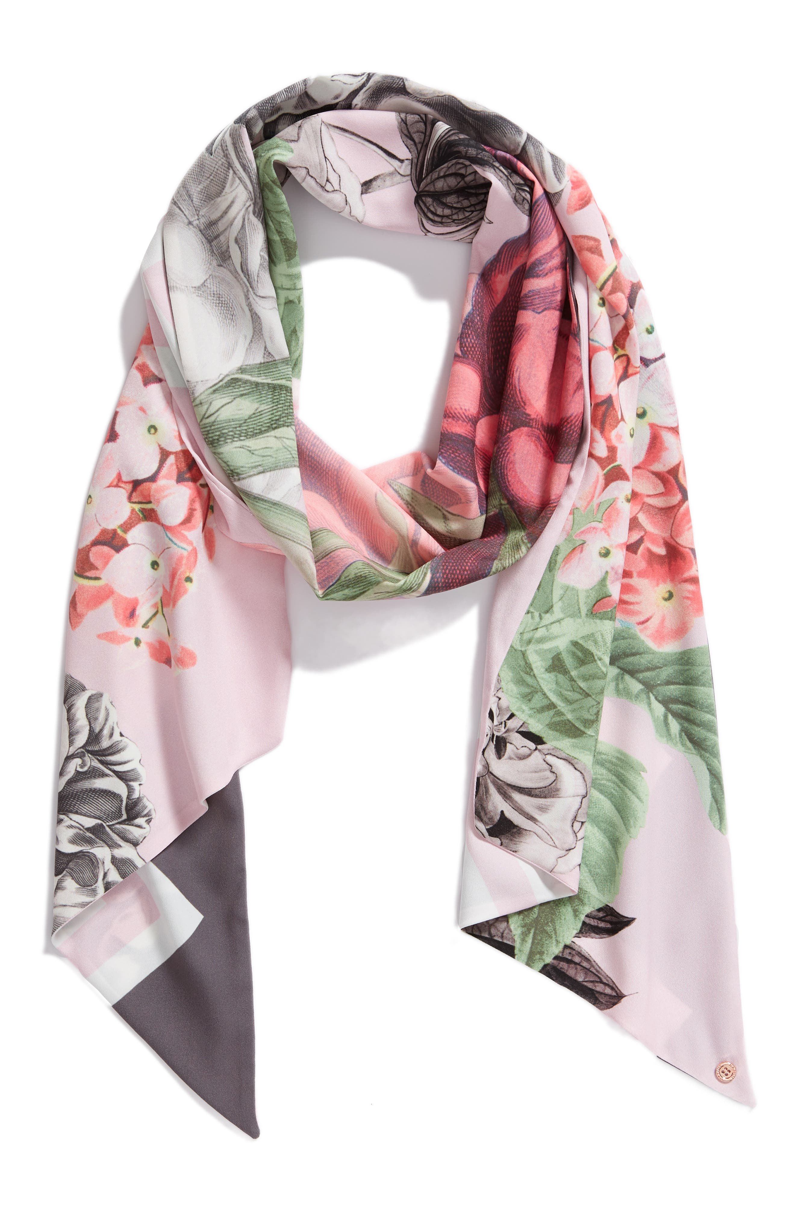 Palace Gardens Skinny Scarf,                             Alternate thumbnail 2, color,                             652