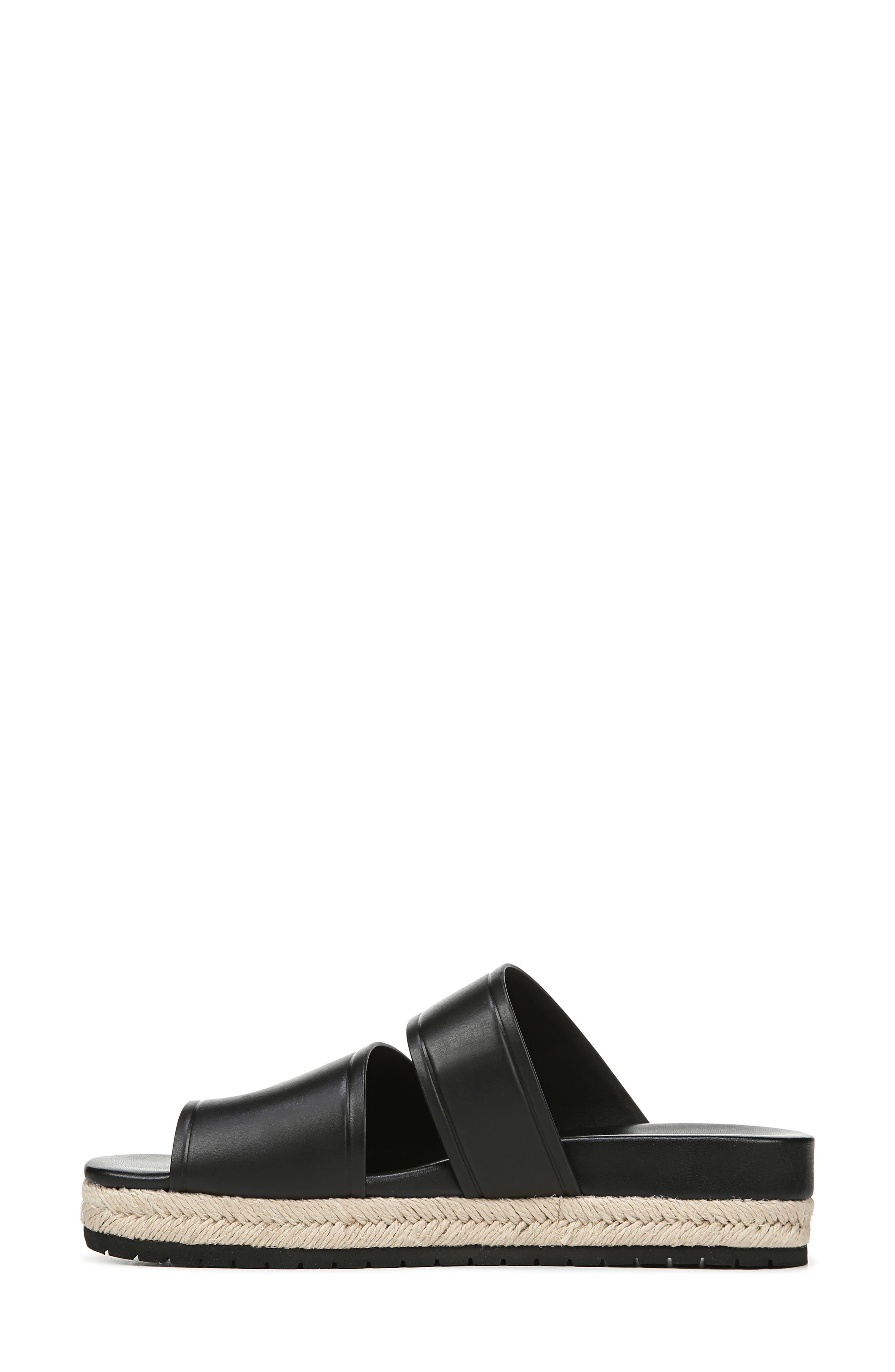 VINCE,                             Floyd Platform Slide Sandal,                             Alternate thumbnail 9, color,                             BLACK