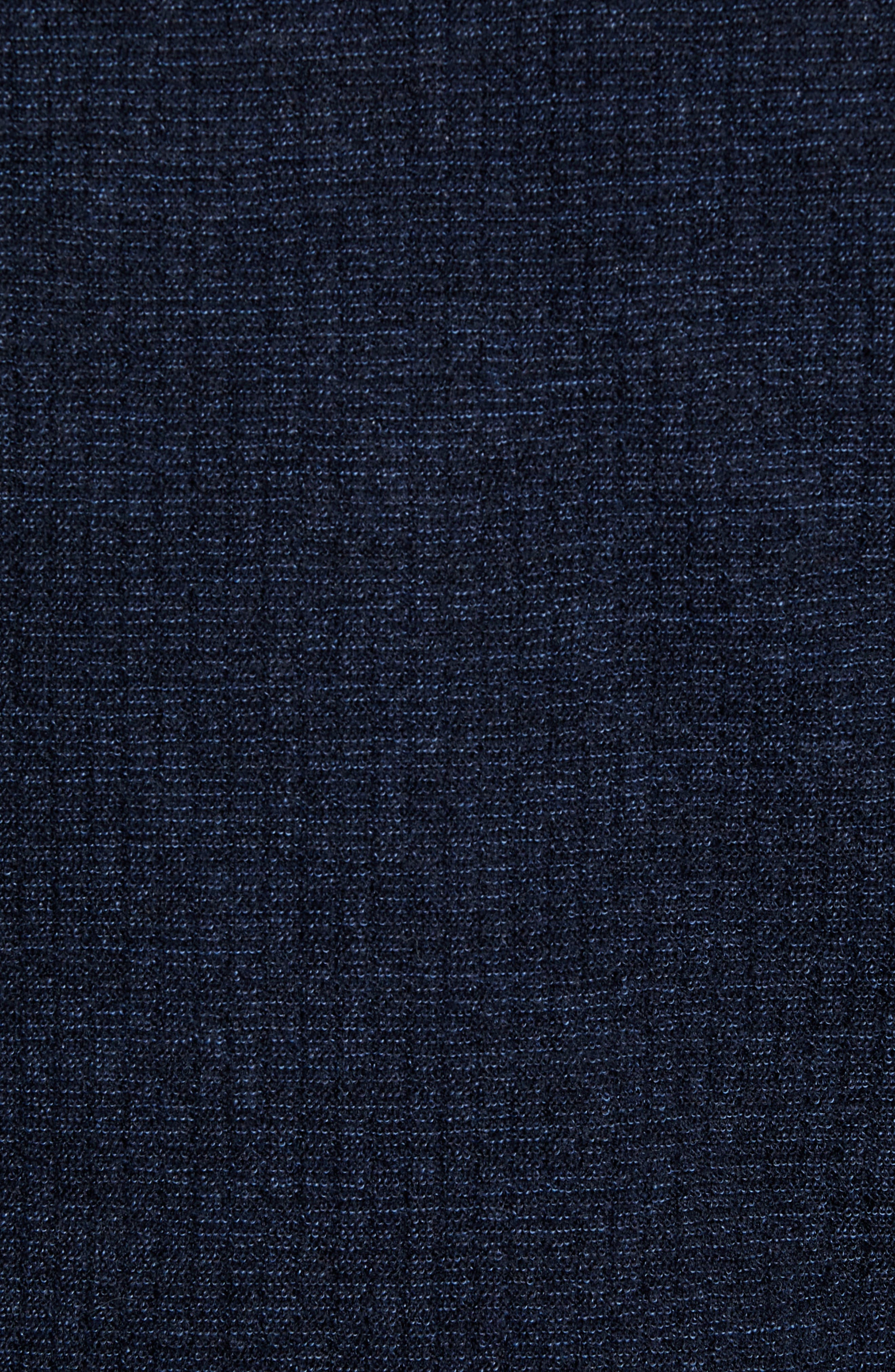 Emauro Mouline V-Neck Slim Fit Sweater,                             Alternate thumbnail 5, color,                             BLUE