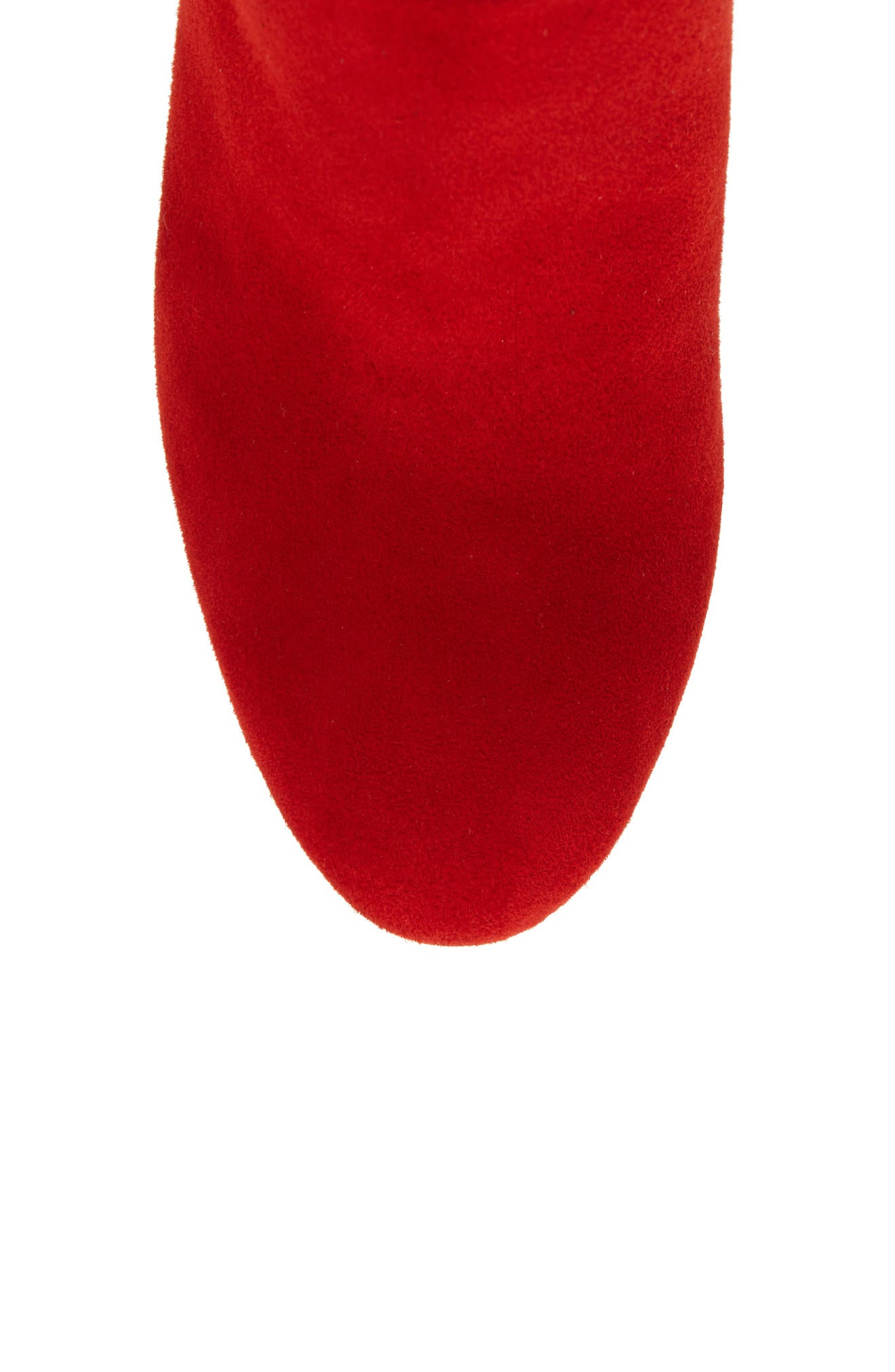 Caprice Knee-High Boot,                             Alternate thumbnail 5, color,                             CANDY RED SUEDE