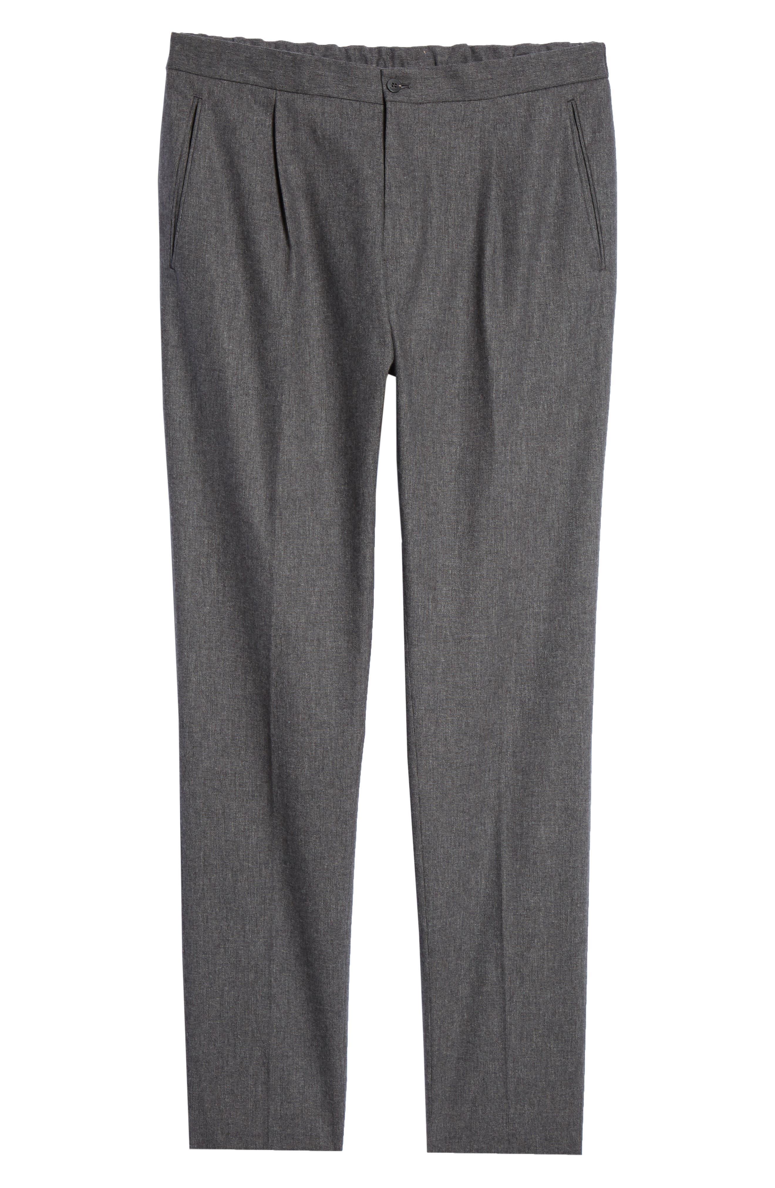 Trim Fit Sport Trousers,                             Alternate thumbnail 6, color,                             CHARCOAL