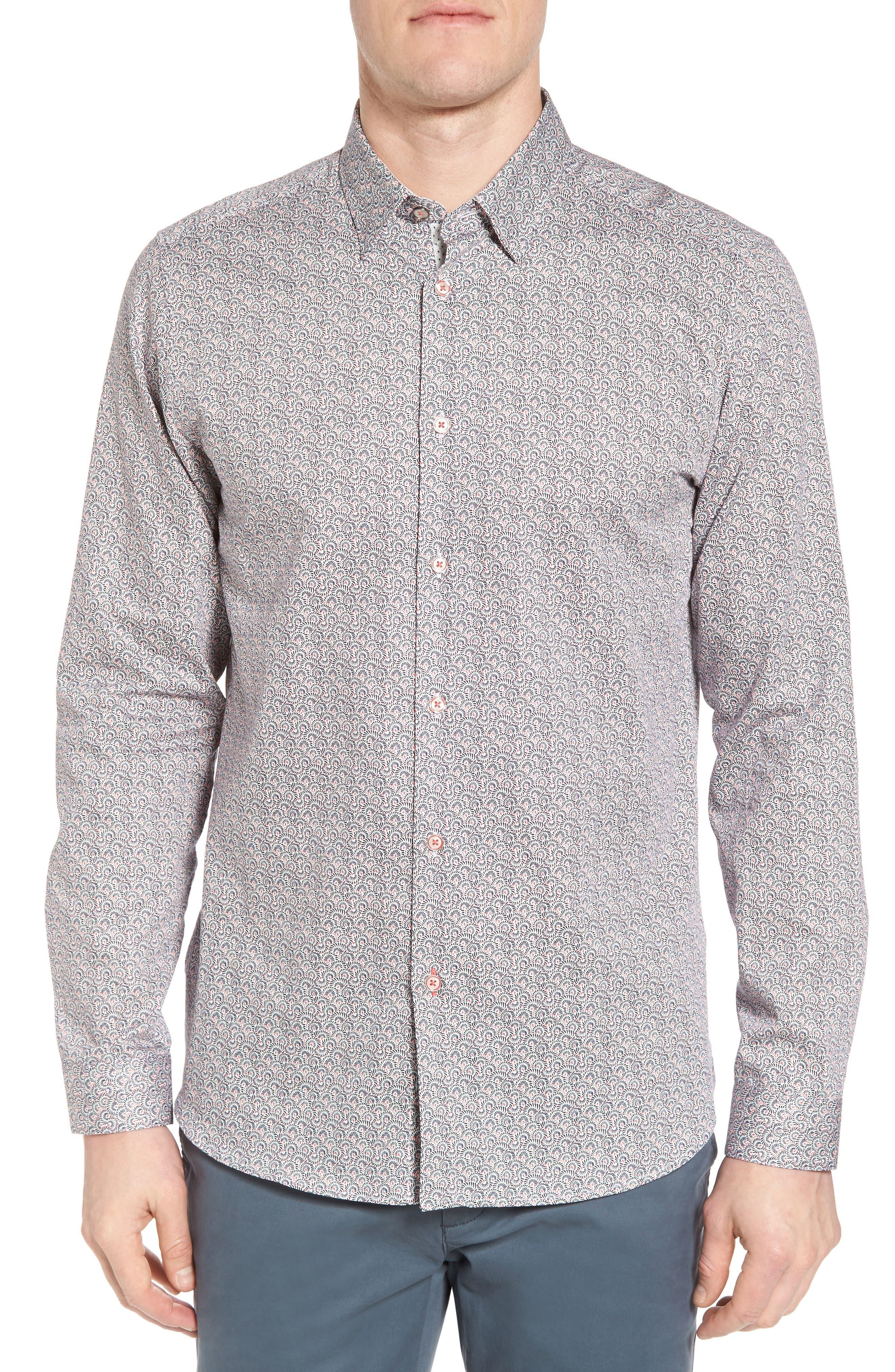 Lorritt Geo Print Sport Shirt,                         Main,                         color, 100
