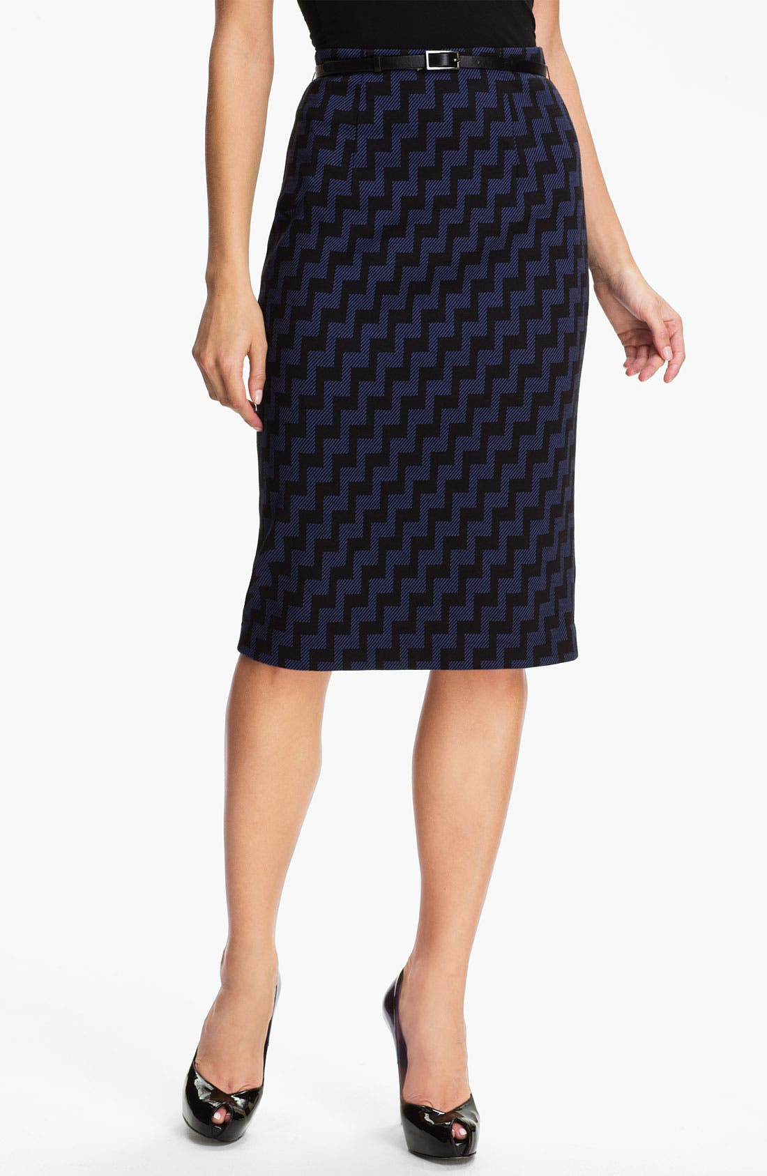 Belted Ponte Skirt,                             Main thumbnail 10, color,