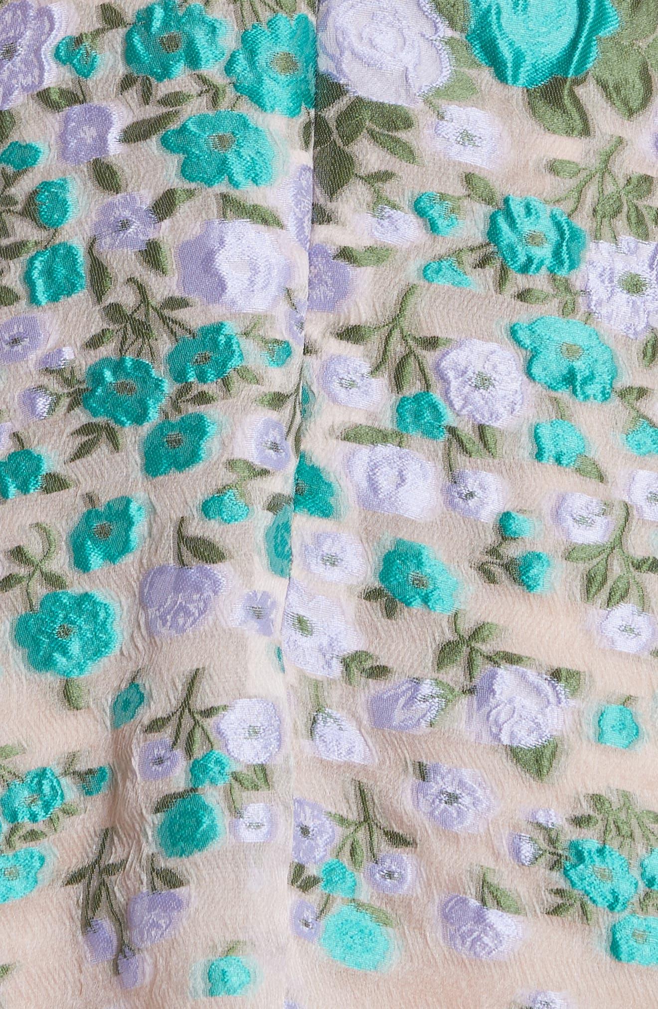 Floral Matelassé Cold Shoulder Dress,                             Alternate thumbnail 5, color,