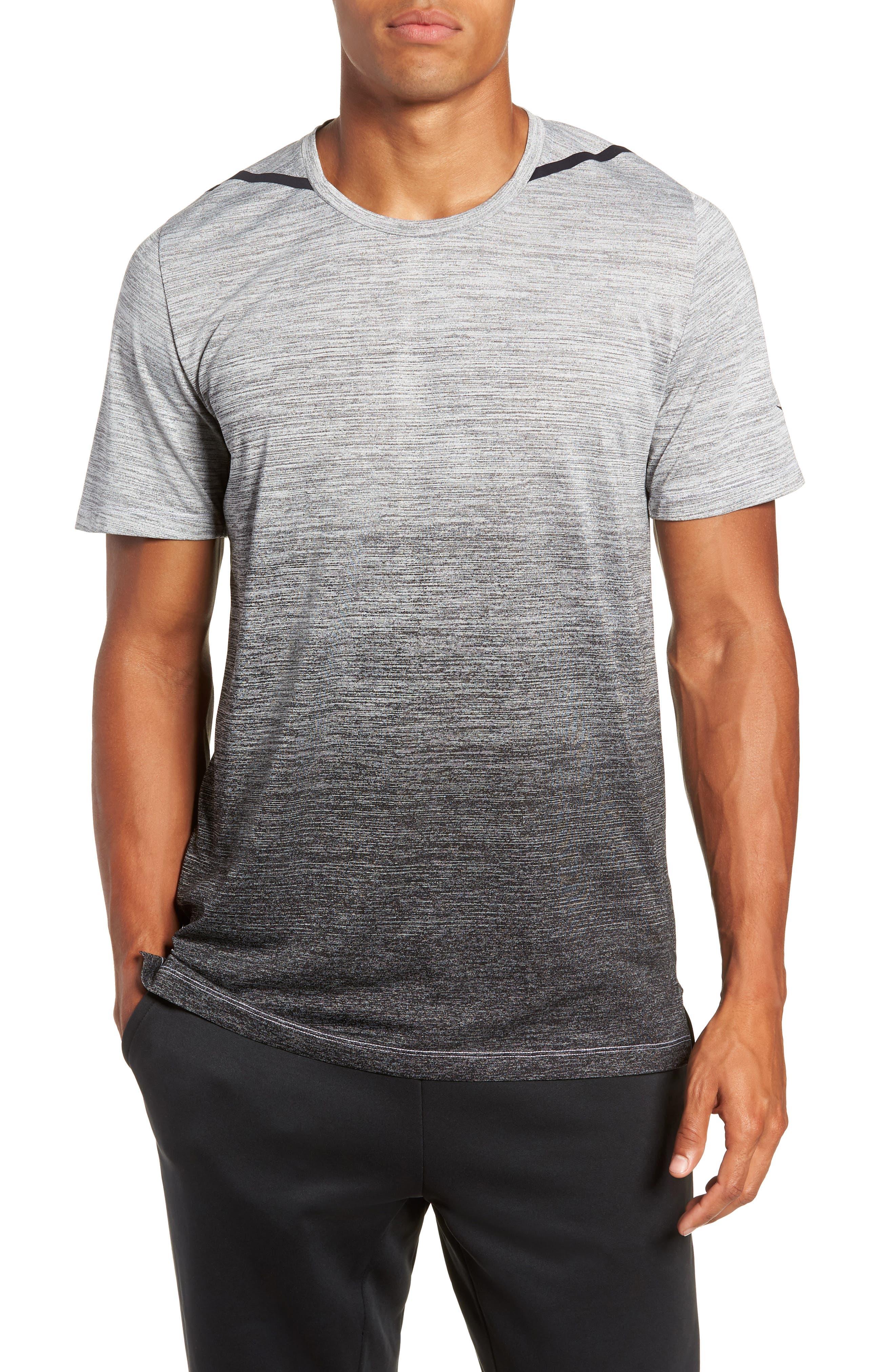 Dry Max Training T-Shirt,                         Main,                         color, BLACK/ WHITE/ HYPER COBALT